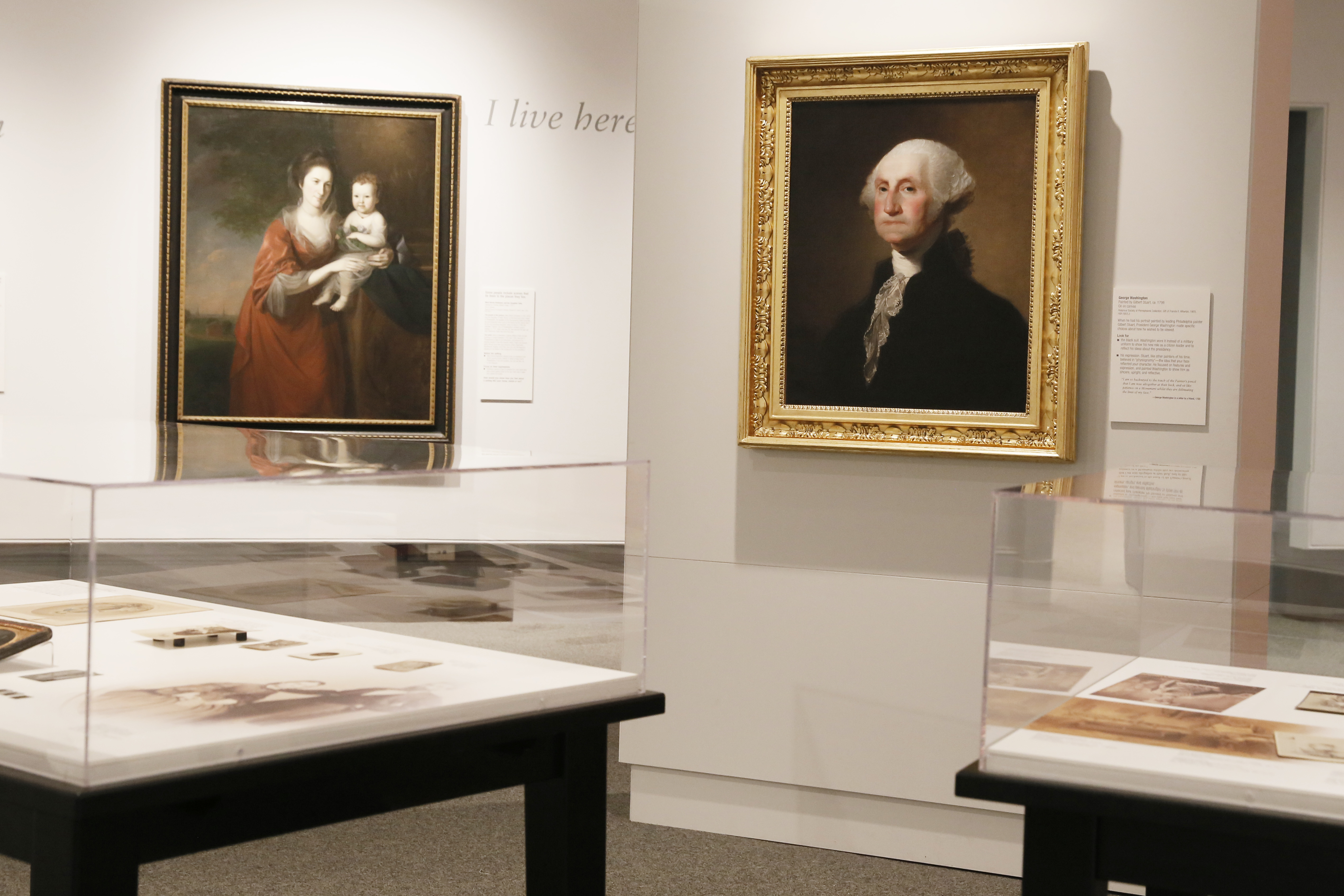Also on display at the Philadelphia History Museum: A 1798 painting of George Washington by Gilbert Stuart.