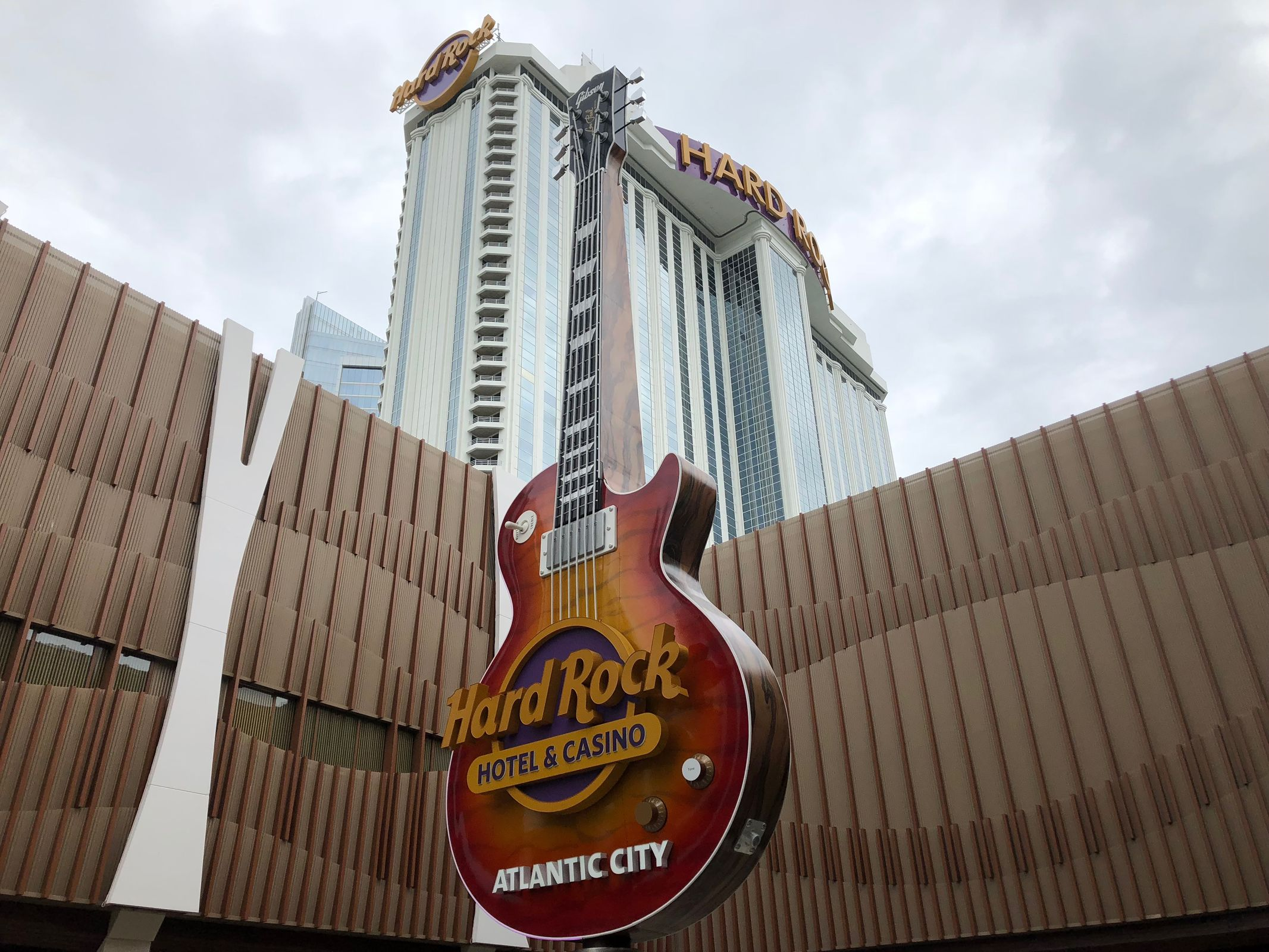 The Hard Rock Hotel & Casino on June 27, 2018, toward a planned June 28 opening. It is located on the site of the the former Taj Mahal, which closed in 2016 after a labor dispute with billionaire owner Carl Icahn. The now-president Trump hailed the business as the Eighth wonder of the world when it opened in 1990. Trump´s name was removed from the property shortly after his 2017 inauguration, according to a court filing, because Icahn failed to maintain the iconic and invaluable Trump Entertainment brand.