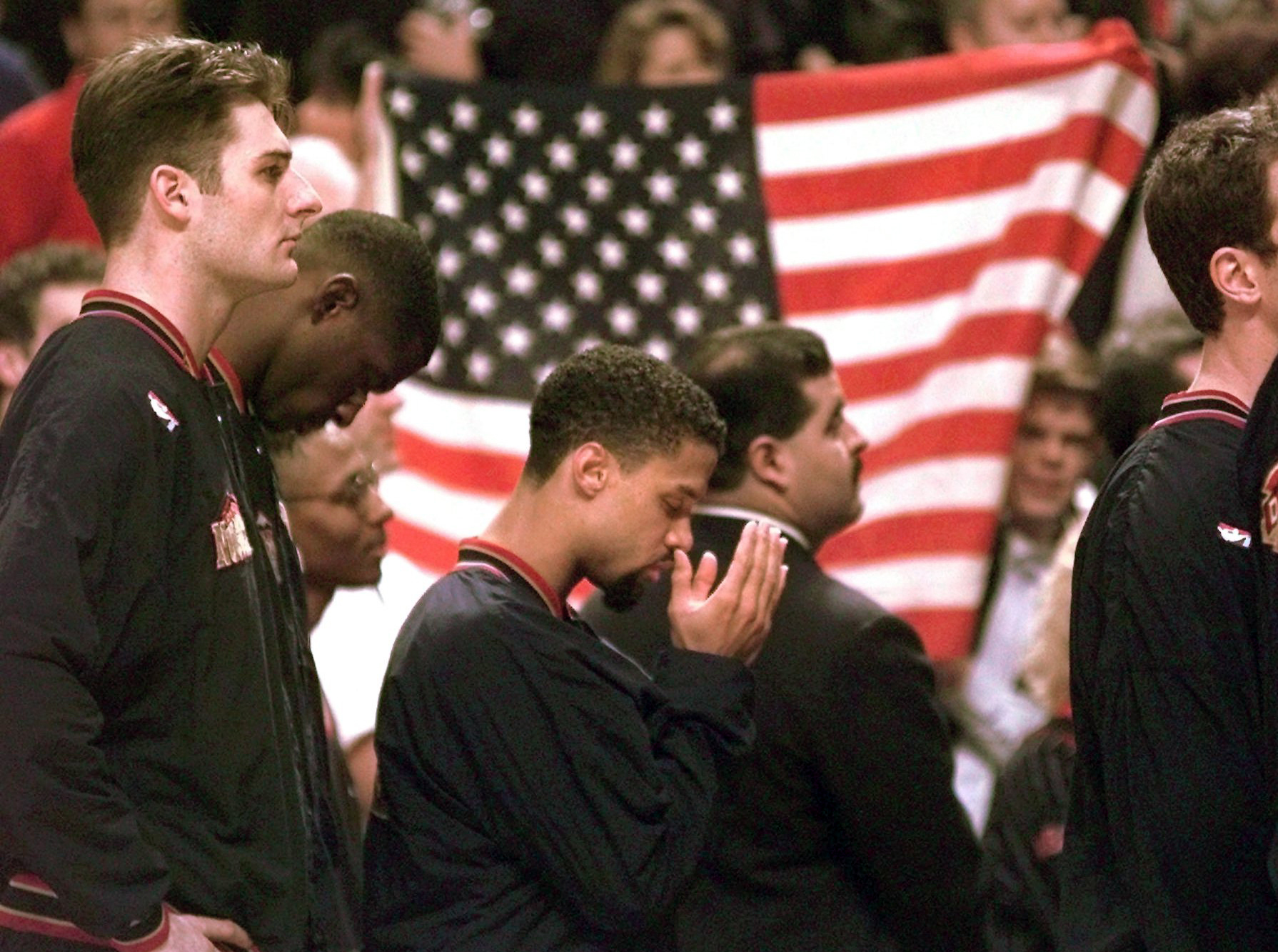 Mahmoud Abdul-Rauf was suspended for one game during the 1995-96 season for refusing to stand during the national anthem. Former NBA commissioner David Stern was the one who made the call.