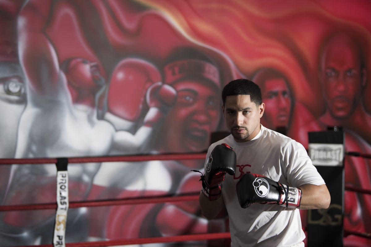 Danny Garcia at the DSG Boxing Club in the Juniata section of Philadelphia.