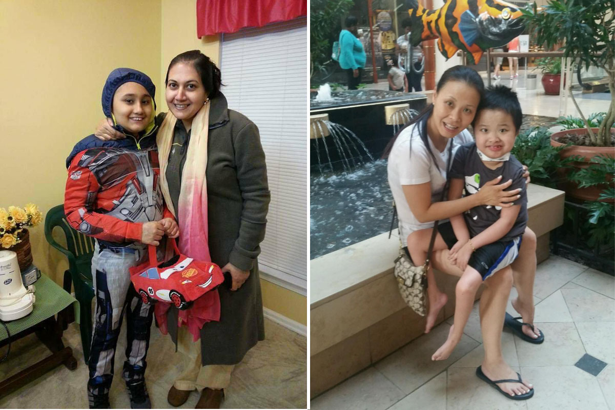 The families of Areen Chakrabarti, left, and Jayden Auyeung, have both gone to court to to challenge Children's Hospital of Philadelphia over its efforts to take them off life support. Jayden died on June 16. Areen and his family have traveled to Guatemala for treatment.