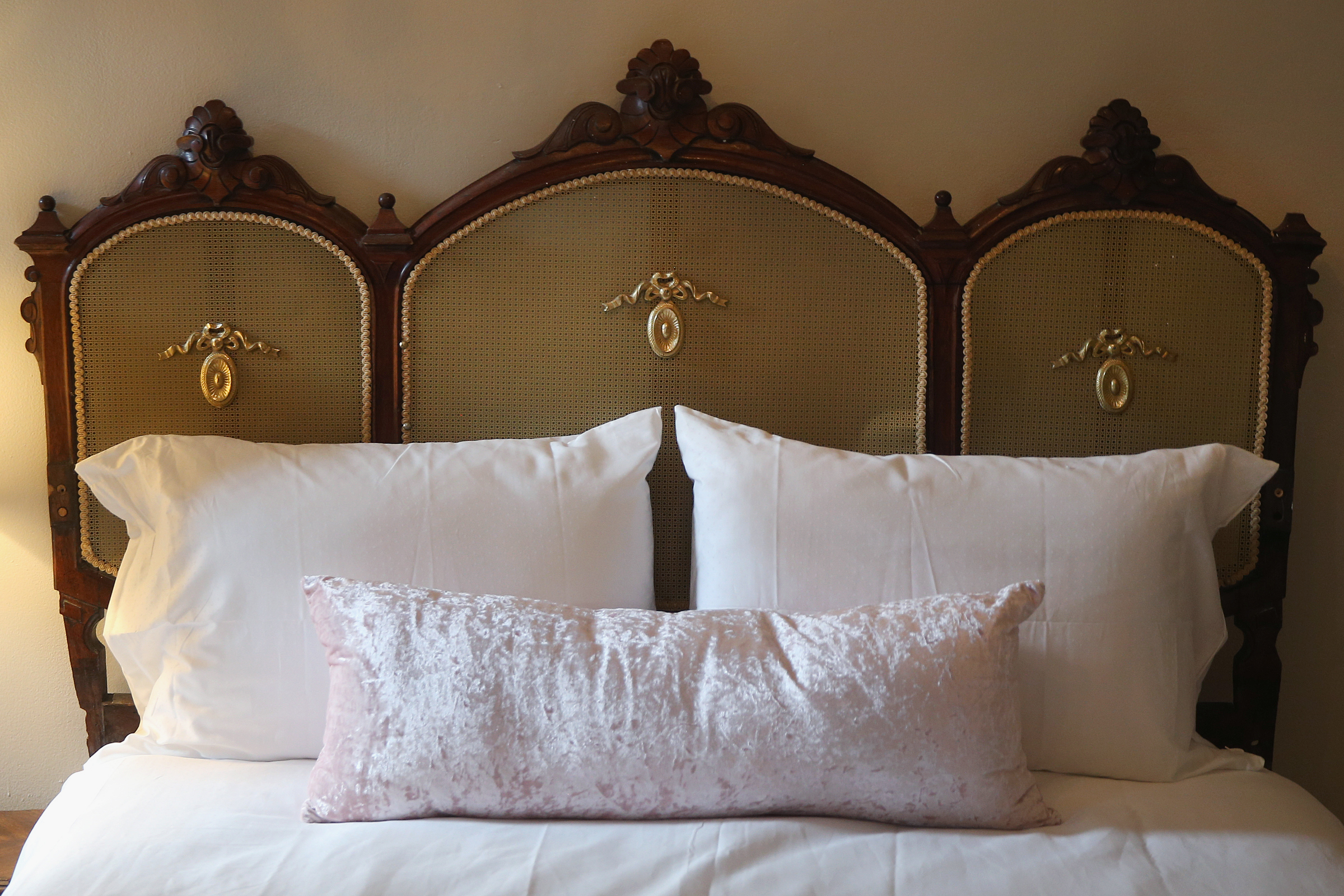 A bedroom is pictured during an open house at the new Akwaaba Bed and Breakfast in West Philadelphia on Wednesday, July 4, 2018. The Philadelphia location is the latest addition to the bed and breakfast chain started by Monique Greenwood and her husband, Glenn Pogue. TIM TAI / Staff Photographer