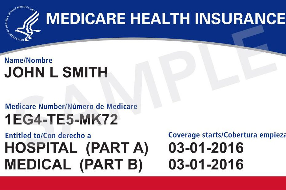 Mockup of the new Medicare Health Insurance card from Medicare.gov