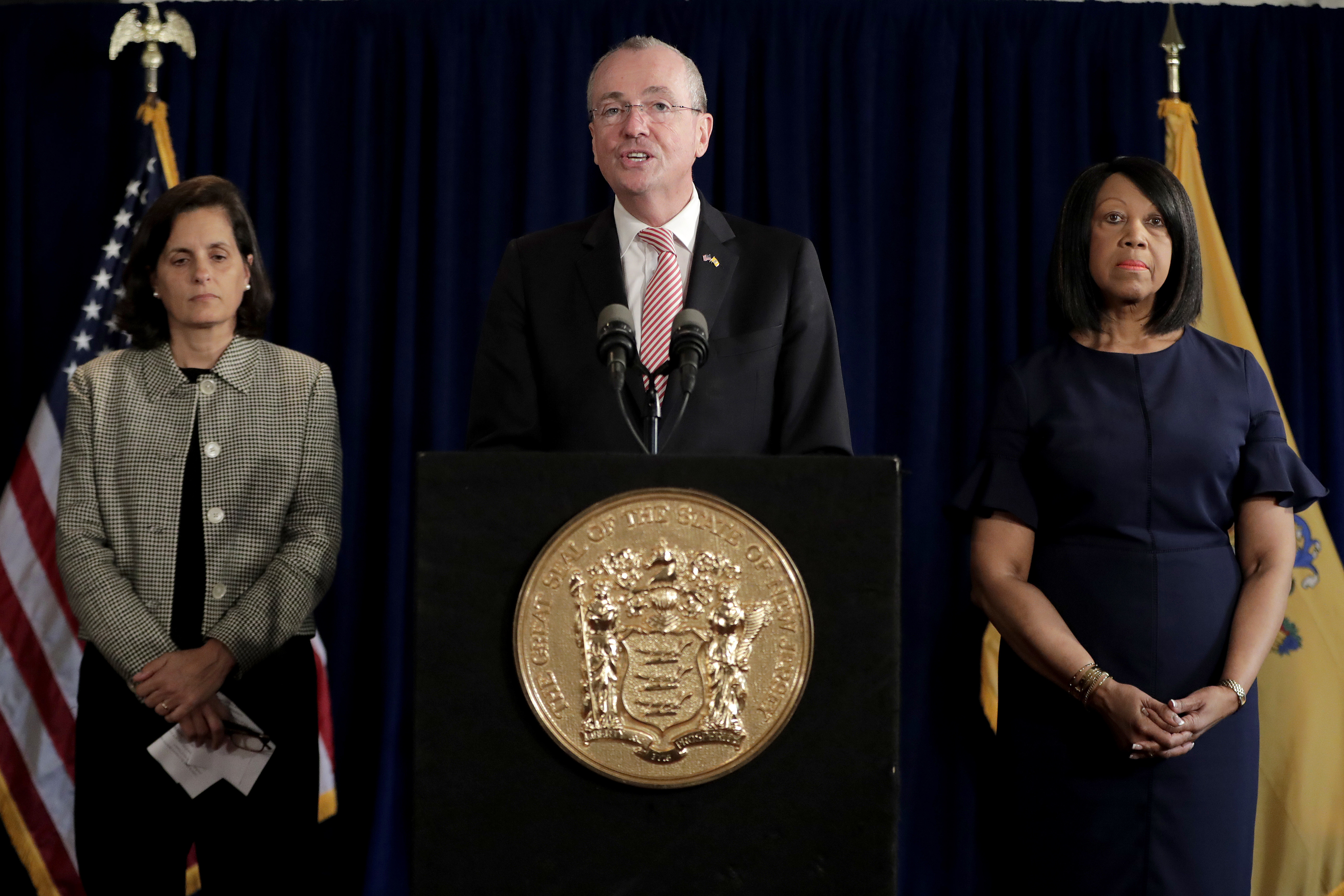 Gov. Murphy addresses reporters on Friday after budget negotiations collapsed.
