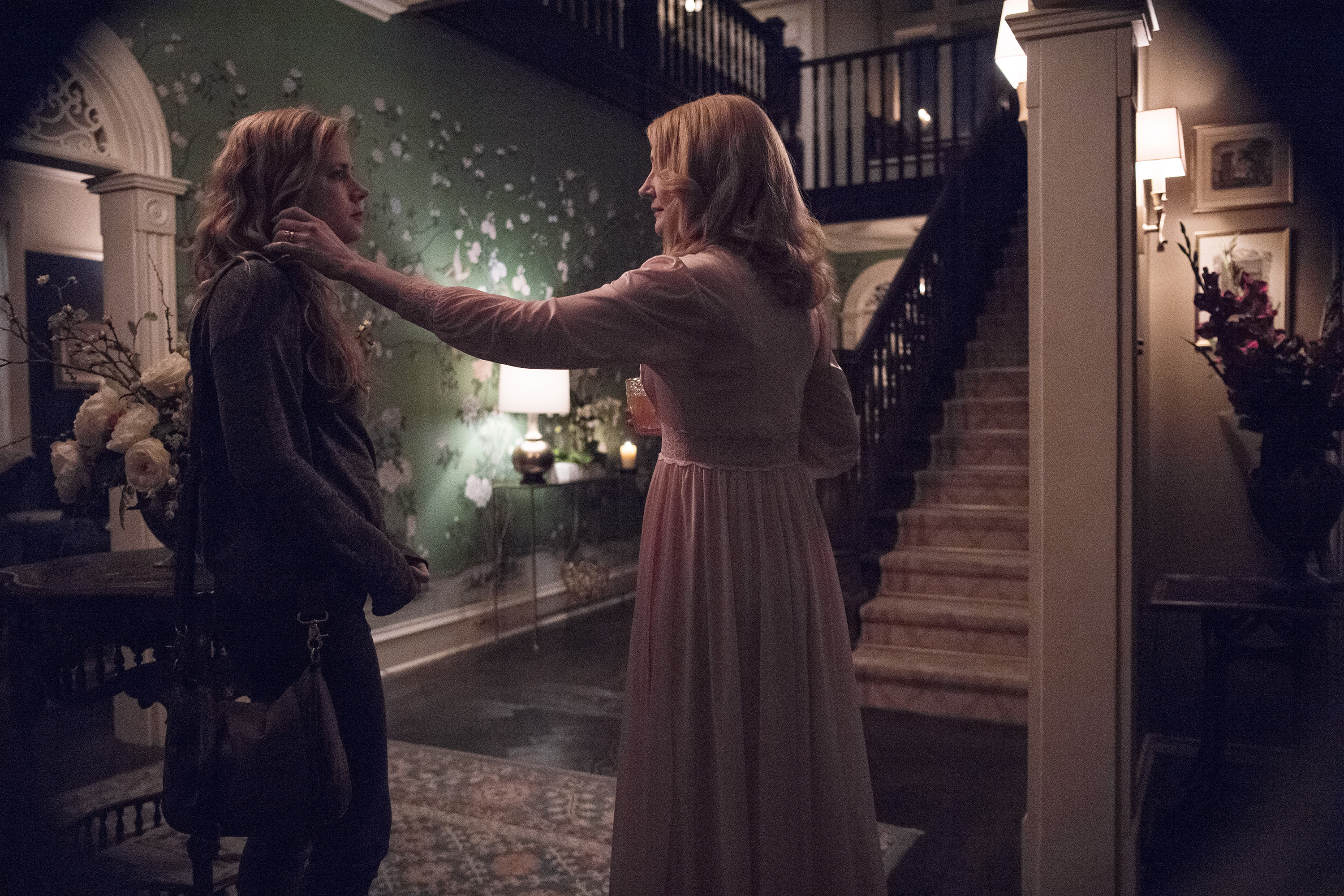 "Patricia Clarkson and Amy Adams in ""Sharp Objects"""