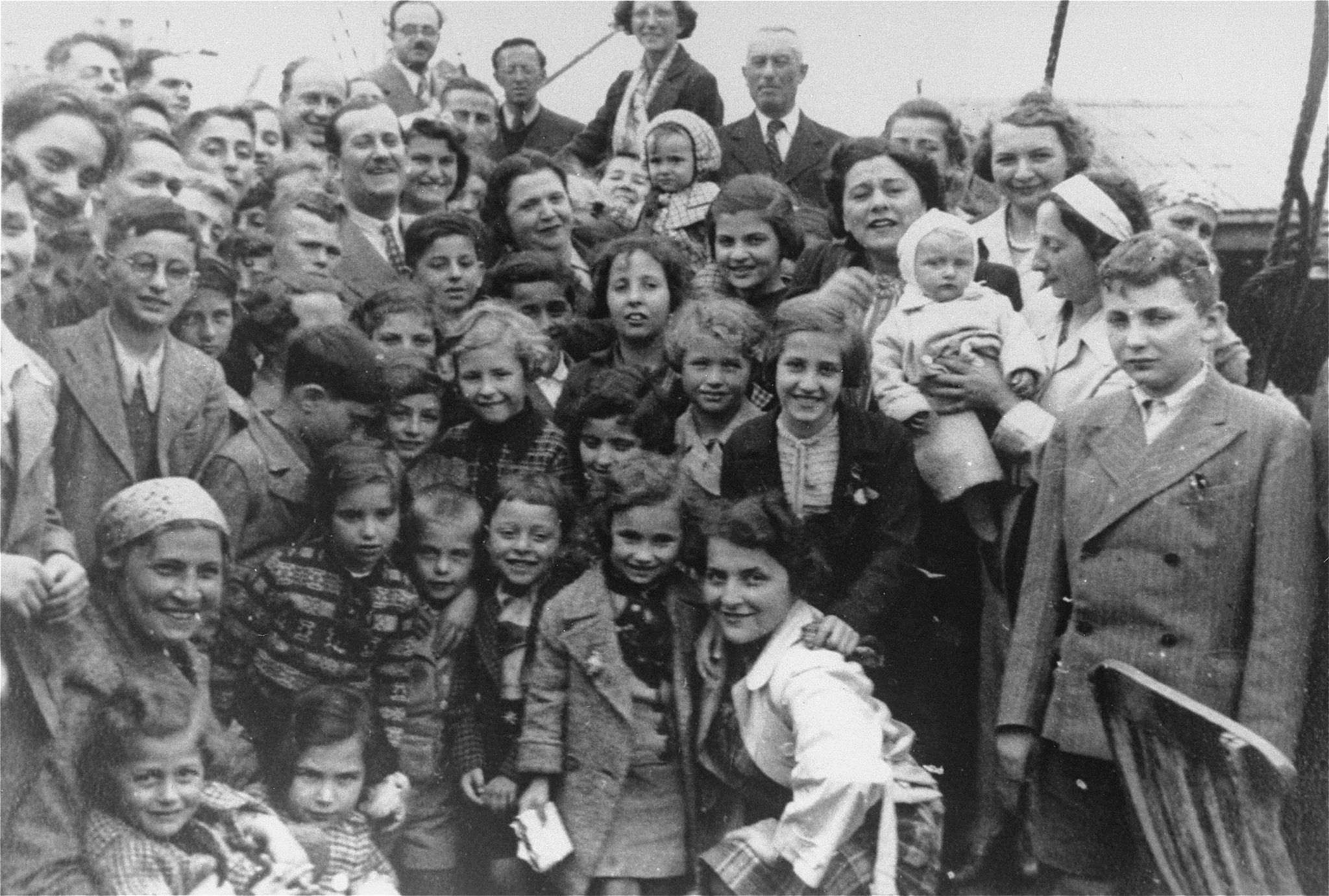 German Jewish refugee children on ship St. Louis which was turned away from U.S. harbors and sent back to Europe.