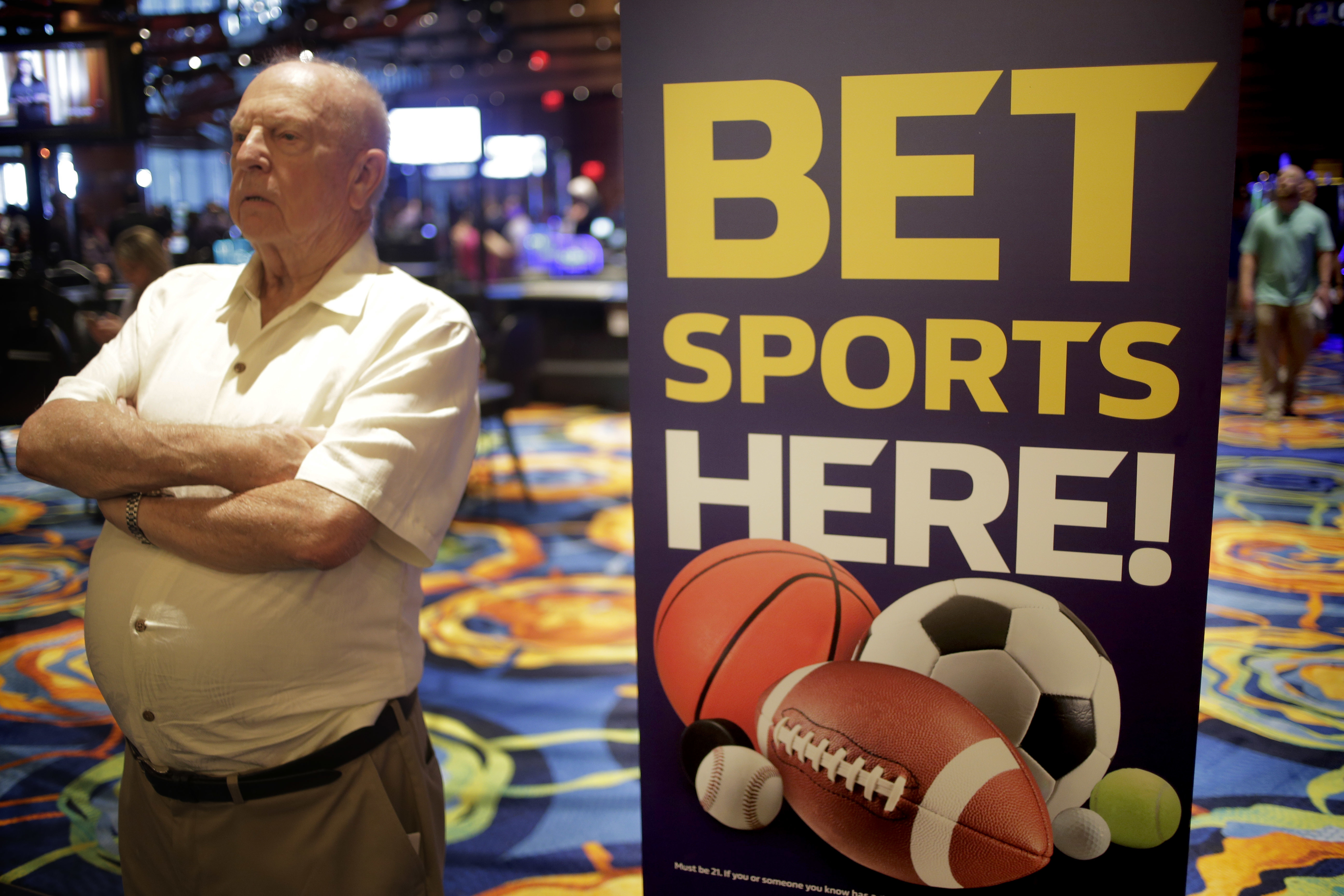 A sign beckons sports bettors at Ocean Resort Casino in Atlantic City. Pennsylvania´s legalized sports betting business is off to a slower start.