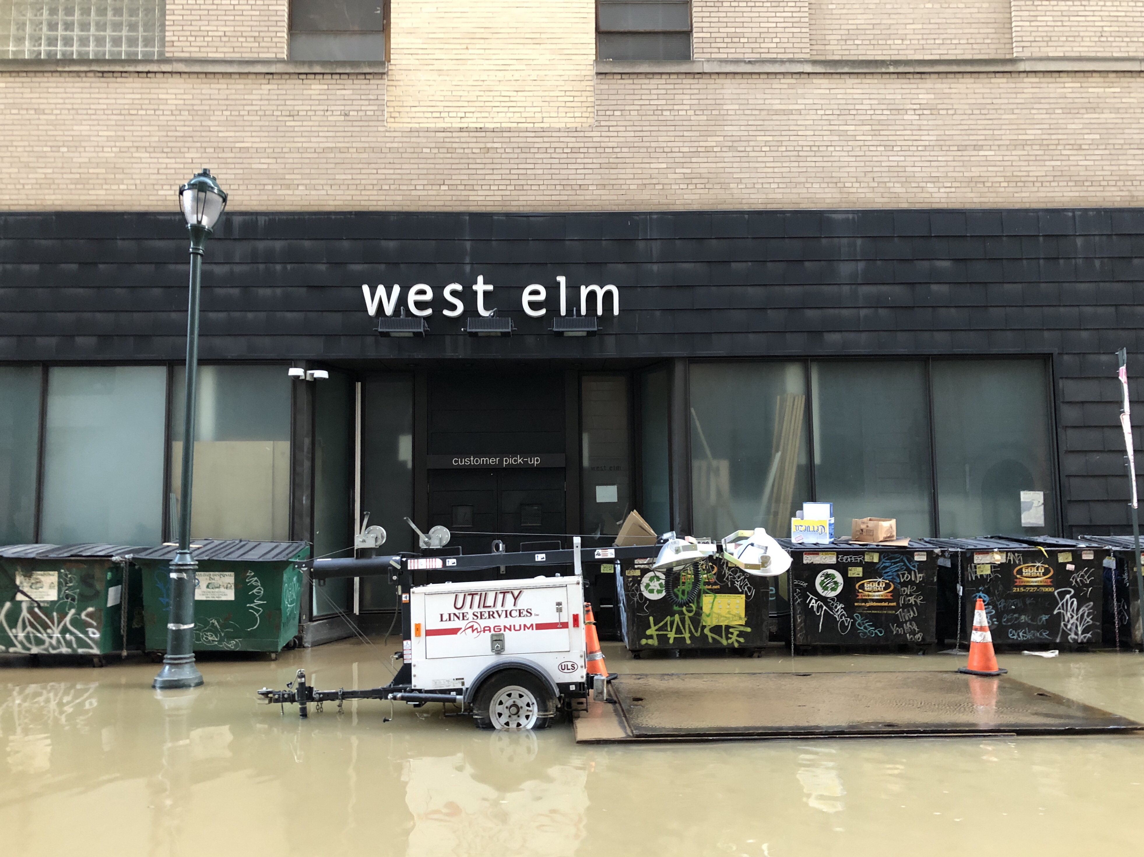 Water main break in Center City on Tuesday, July 3.