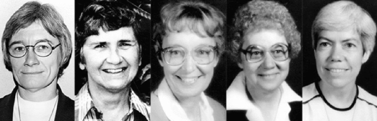 From left: Shirley Kolmer, Barbara Ann Muttra, Mary Joel Kolmer, Agnes Mueller, Kathleen McGuire.