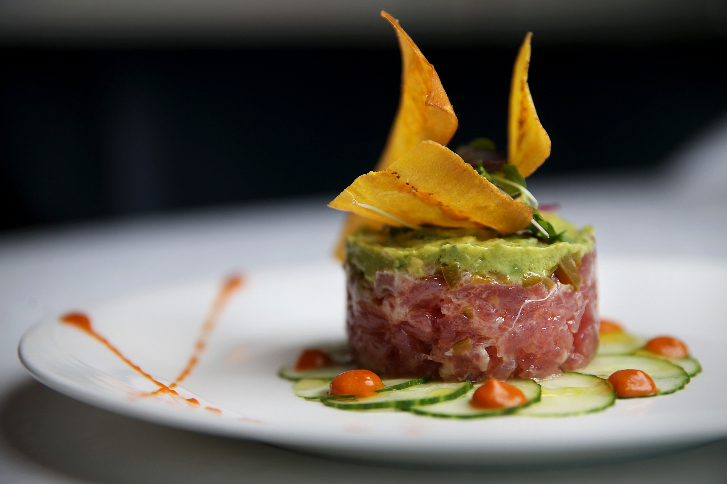 The tuna tartare is pictured at Dolce Mare inside the Ocean Resort Casino in Atlantic City, N.J., on Monday, July 2, 2018. TIM TAI / Staff Photographer