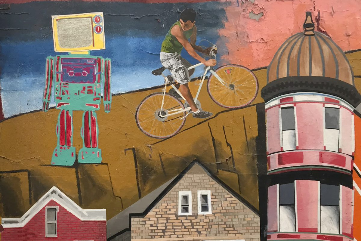The Pilsen neighborhood, southwest of the Loop,   was home to a large Polish population before it became predominantly Mexican in the 1970s,
