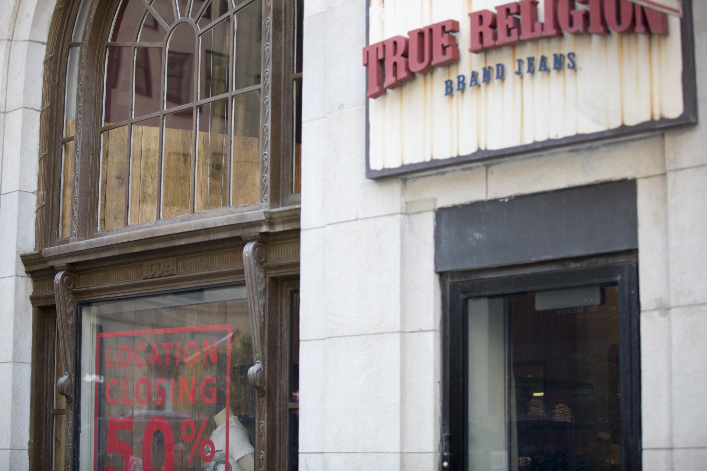 True Religion closed in August of last year.