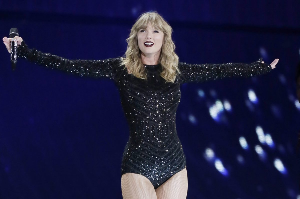 Taylor Swift performing Friday, the first of two nights at Lincoln Financial Field in her Reputation Stadium Tour.