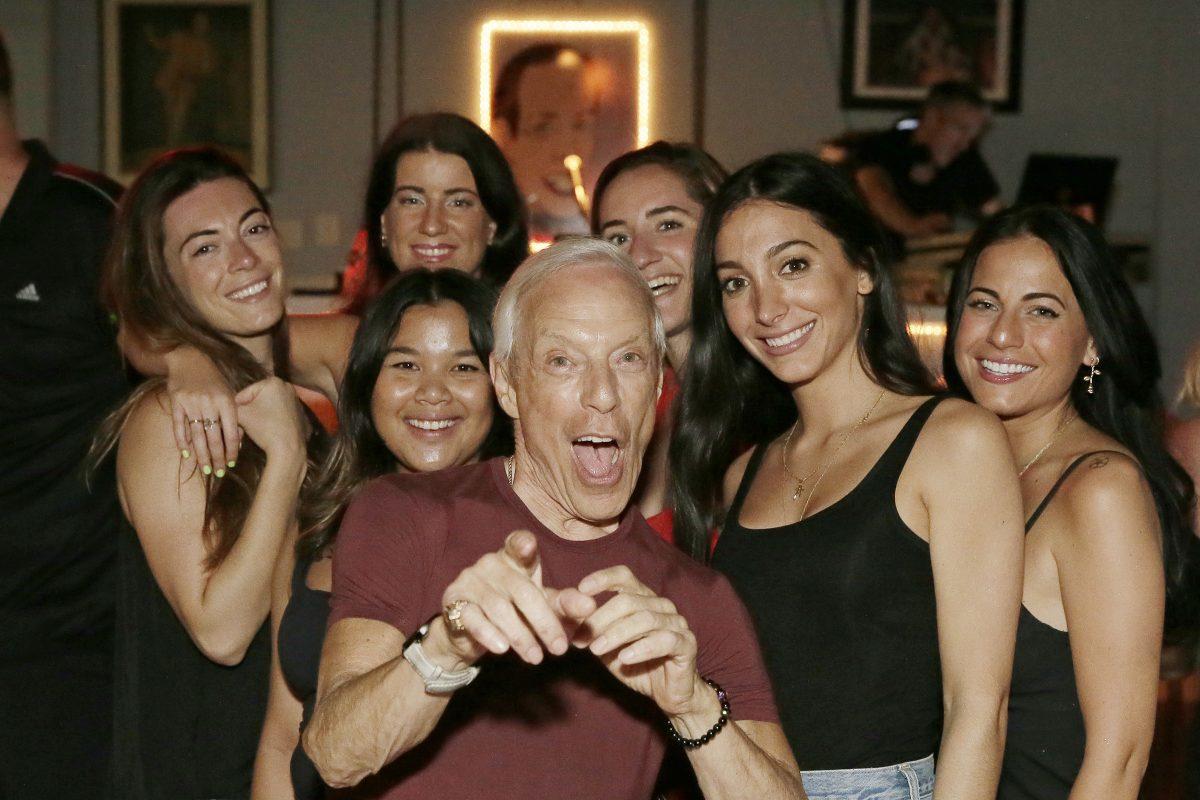 Jerry Blavat dances at Memories in Margate.