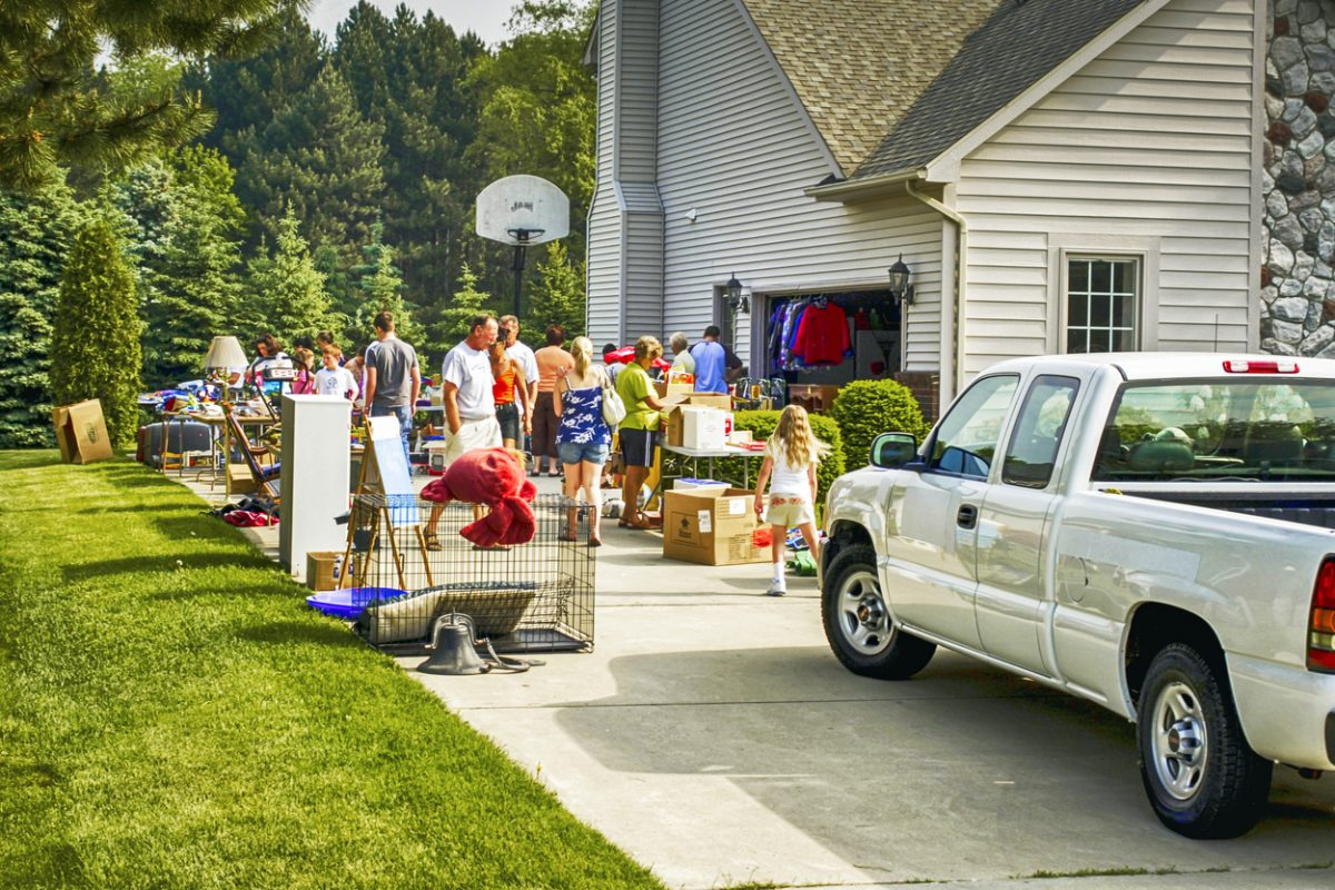Fridays and Saturdays are better than Sundays for yard sales.