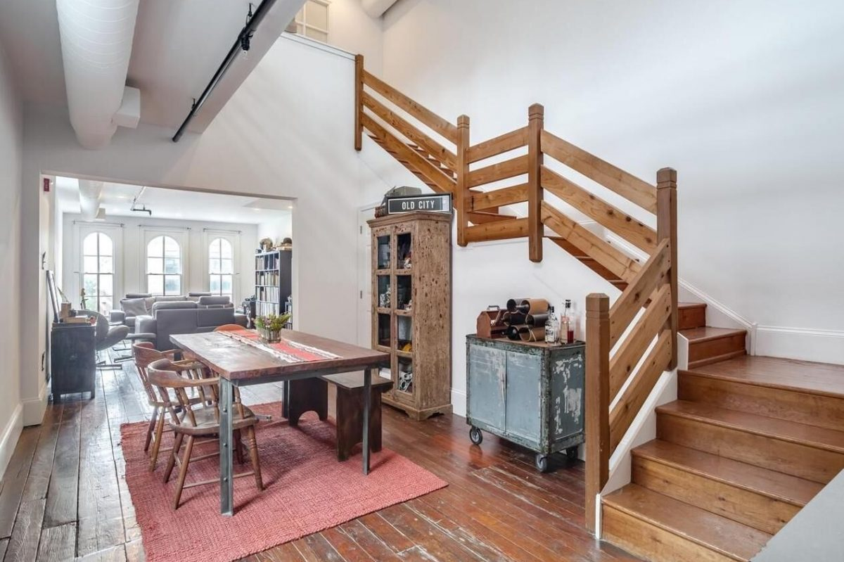 This two-bedroom condo in Old City is on the market for $545,000.