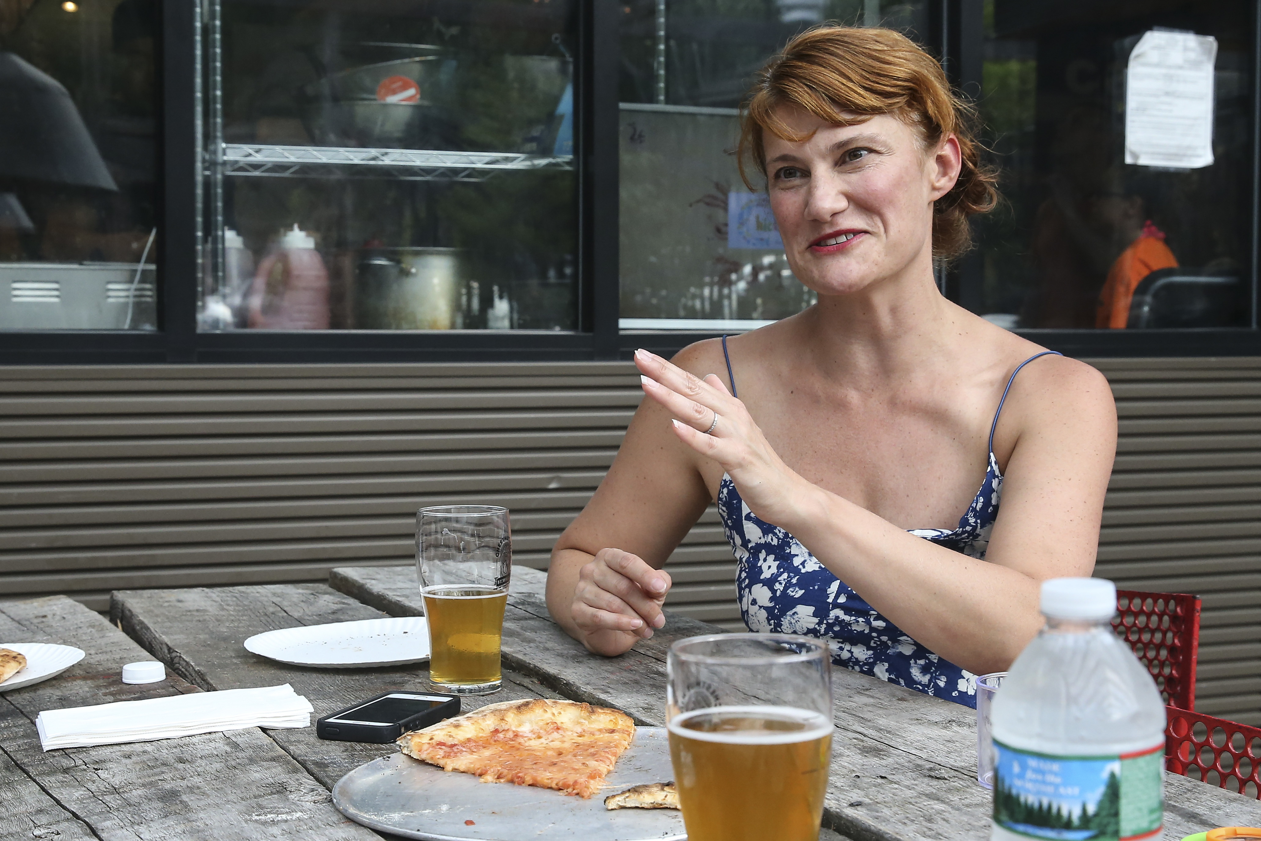 Tiffica Benza, says the beer garden is a unique space for young families.