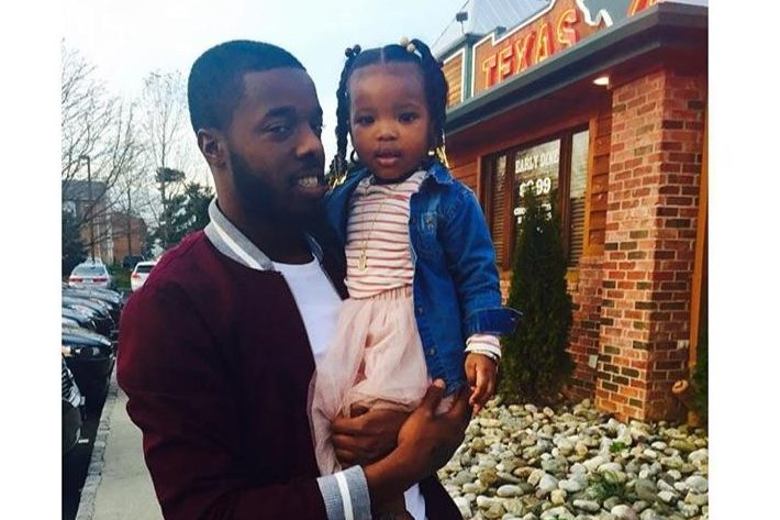 Leonard Boyer III was shot dead outside his mother´s house in North Philadelphia in August 2016. He is seen here with his daughter, Taylor.