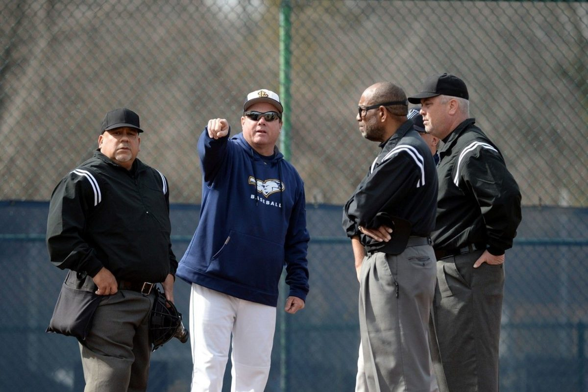 New Archbishop Ryan baseball coach Mike Lake (center) guided La Salle University's squad for 10 seasons.