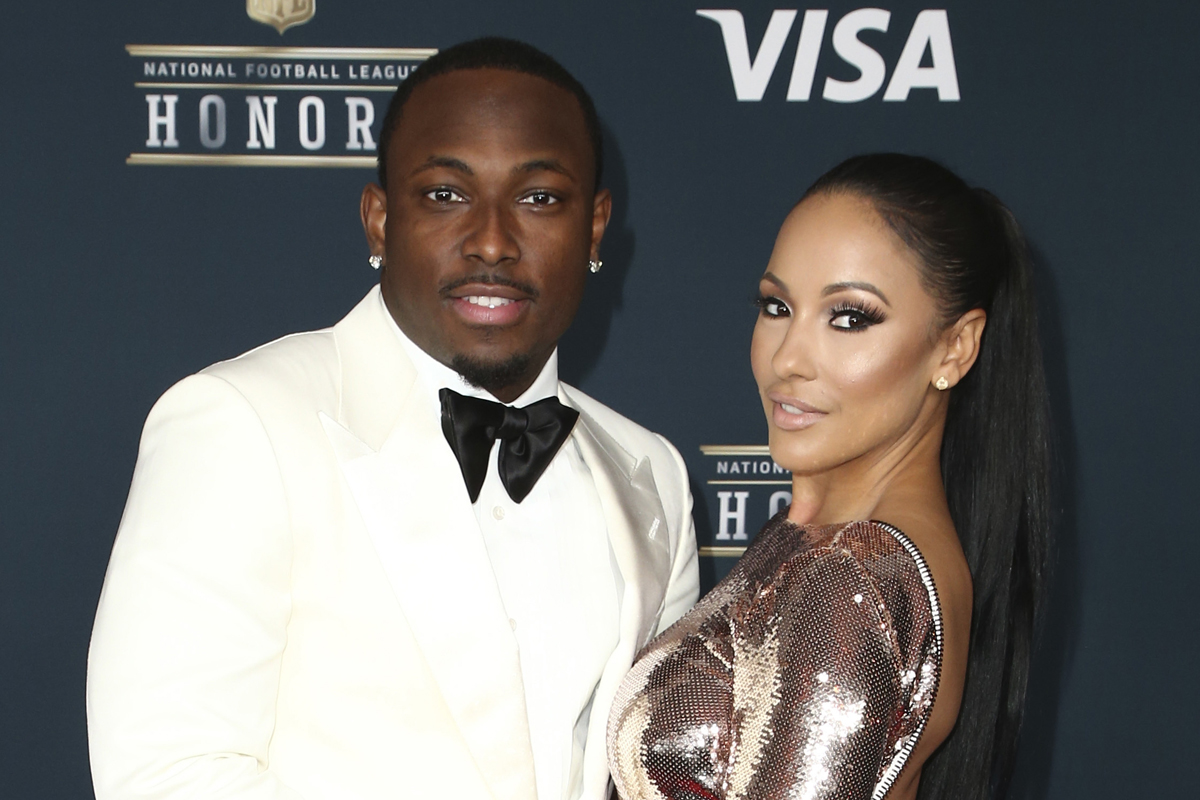 LeSean McCoy and then-girlfriend Delicia Cordon at the 6th annual NFL Honors on Saturday, Feb. 4, 2017, in Houston.