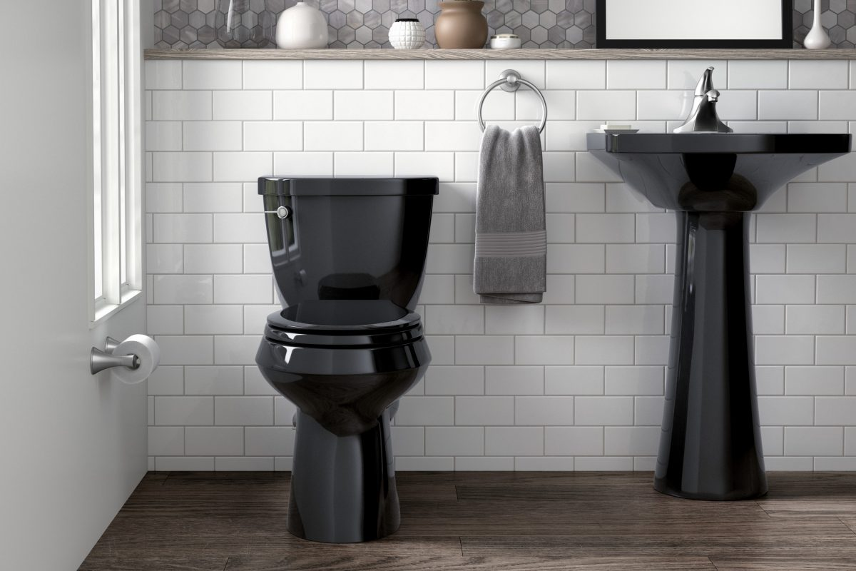 A Black Toilet This Unconventional Choice Is A Bathroom