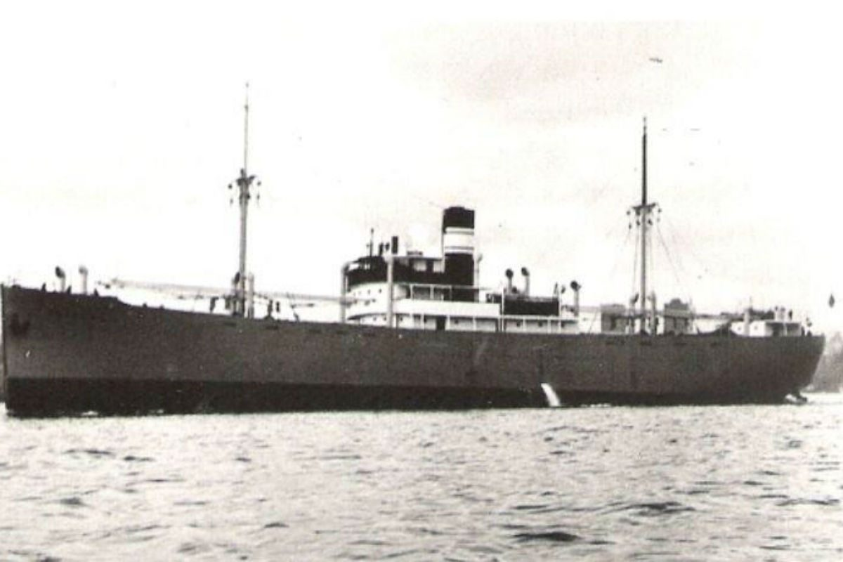 """The """"Octavian"""" was a Norwegian freighter tasked with transporting sulfur and wood resin to its destination at Saint John in New Brunswick, Canada. But the ship never made it."""