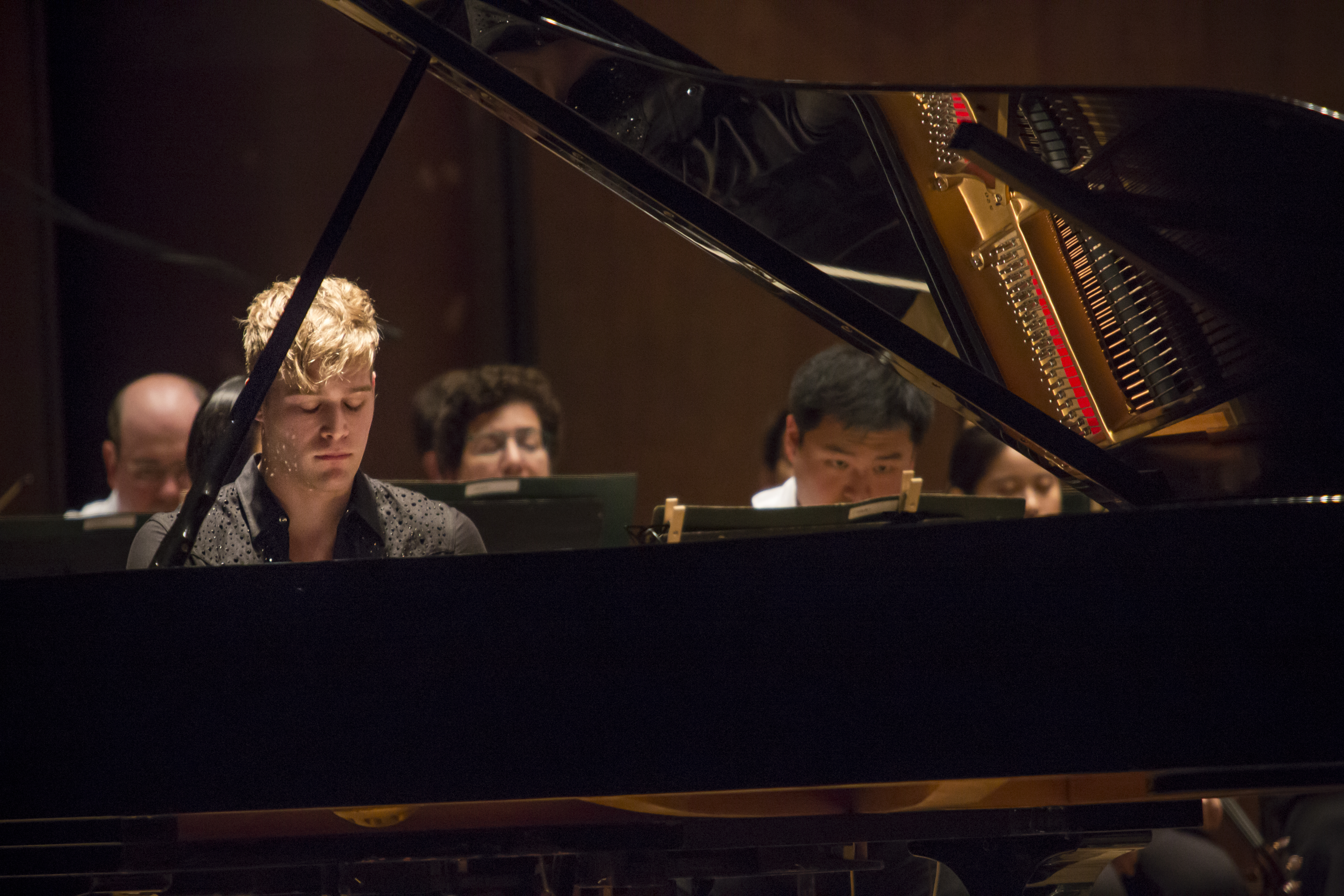 Pianist Micah McLaurin performing Friday night with the Philadelphia Orchestra at the Mann Center.