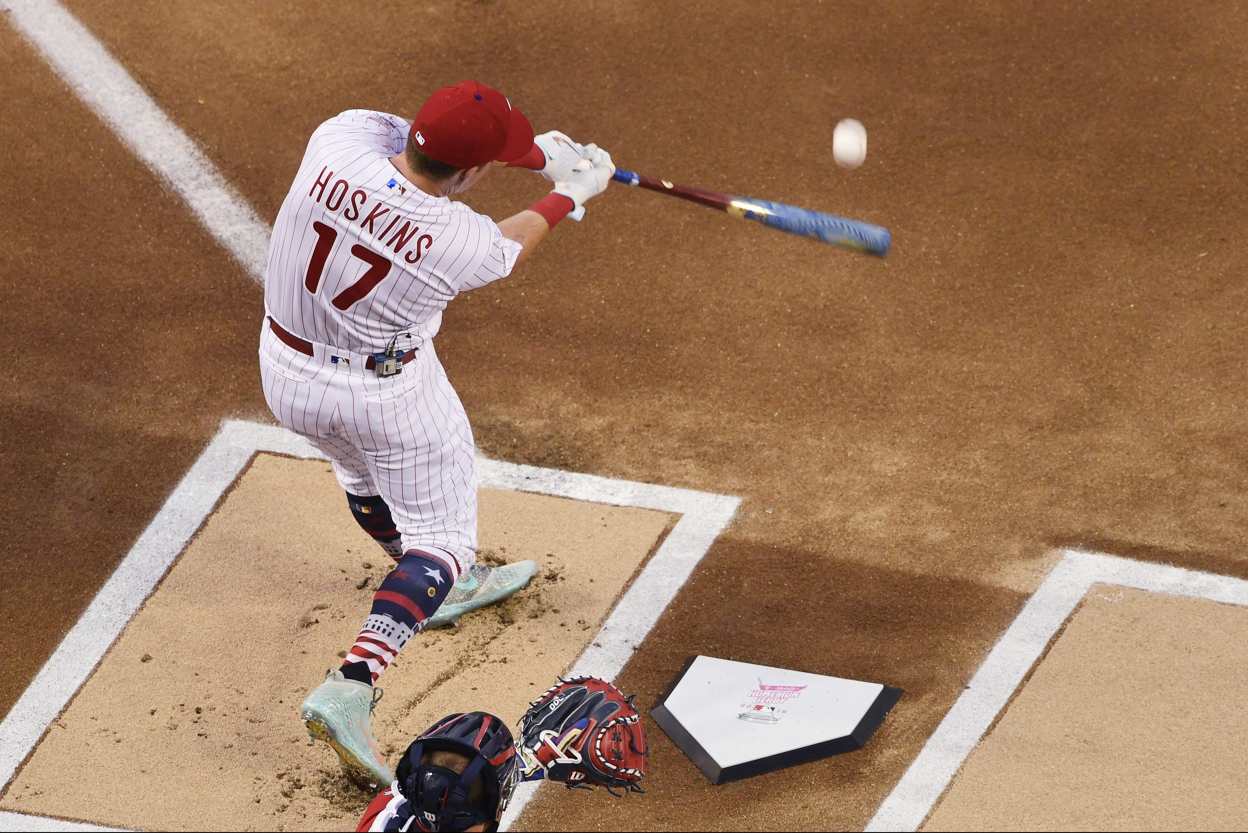 Rhys Hoskins hit a total of 37 home runs during Major League Baseball´s Home Run Derby Monday night in Washington D.C.