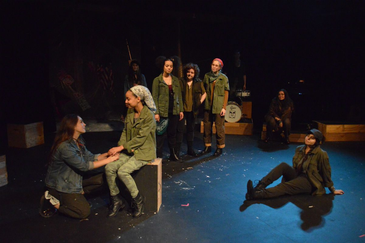 """At the 2017 Philadelphia Women's Theatre Festival, the headlining production was the musical """"Hear Me War"""" by Sarah Galante and Jaime Jarrett."""