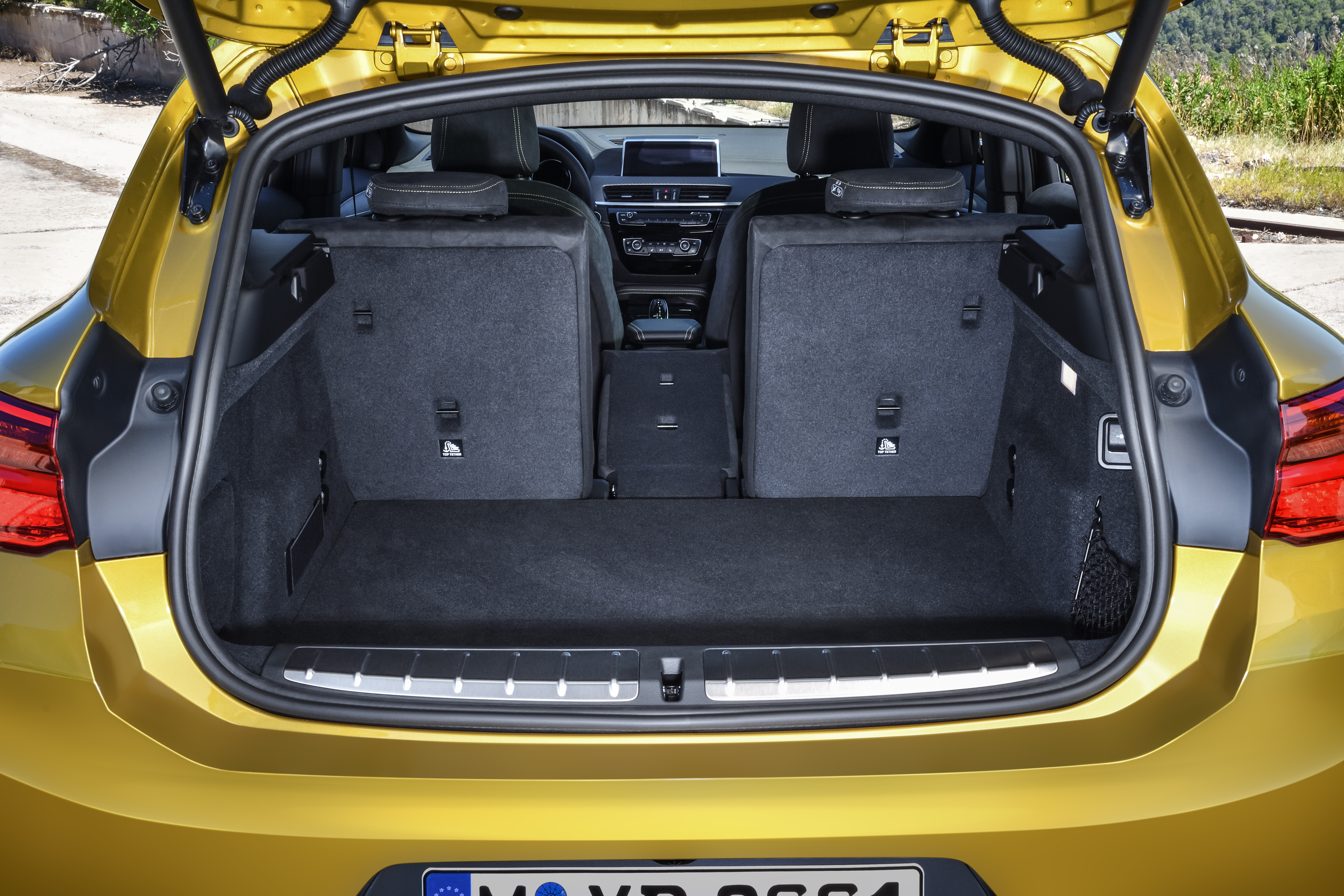 Cargo space in the BMW X2 matches others in the category, but people space is actually pretty generous.