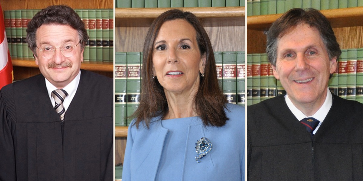Superior Court Judges Ronald Bookbinder (left), Yolanda Ciccone, and Ernest Caposela.