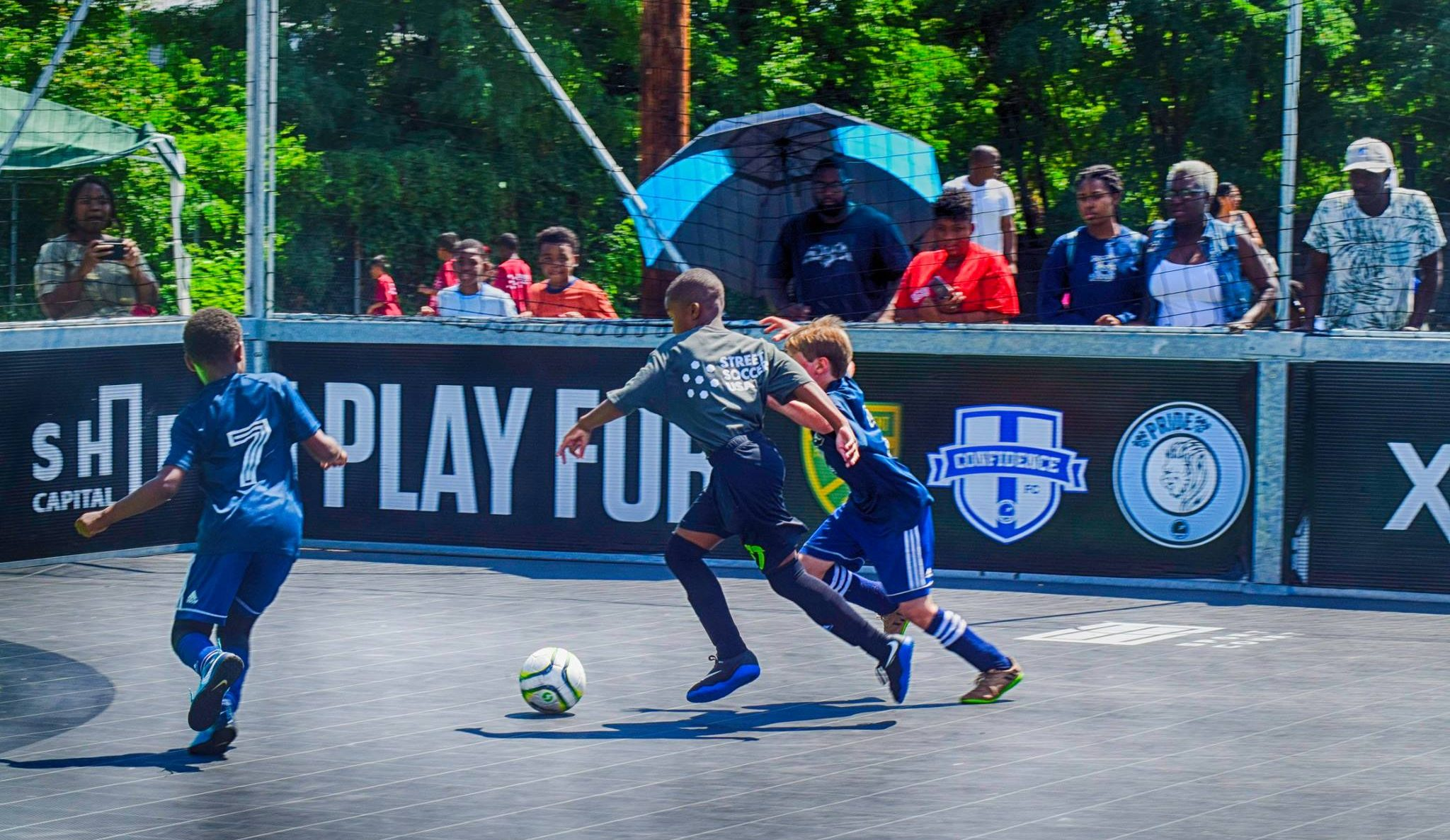 Players in action at Street Soccer USA´s recent tournament in Kensington.