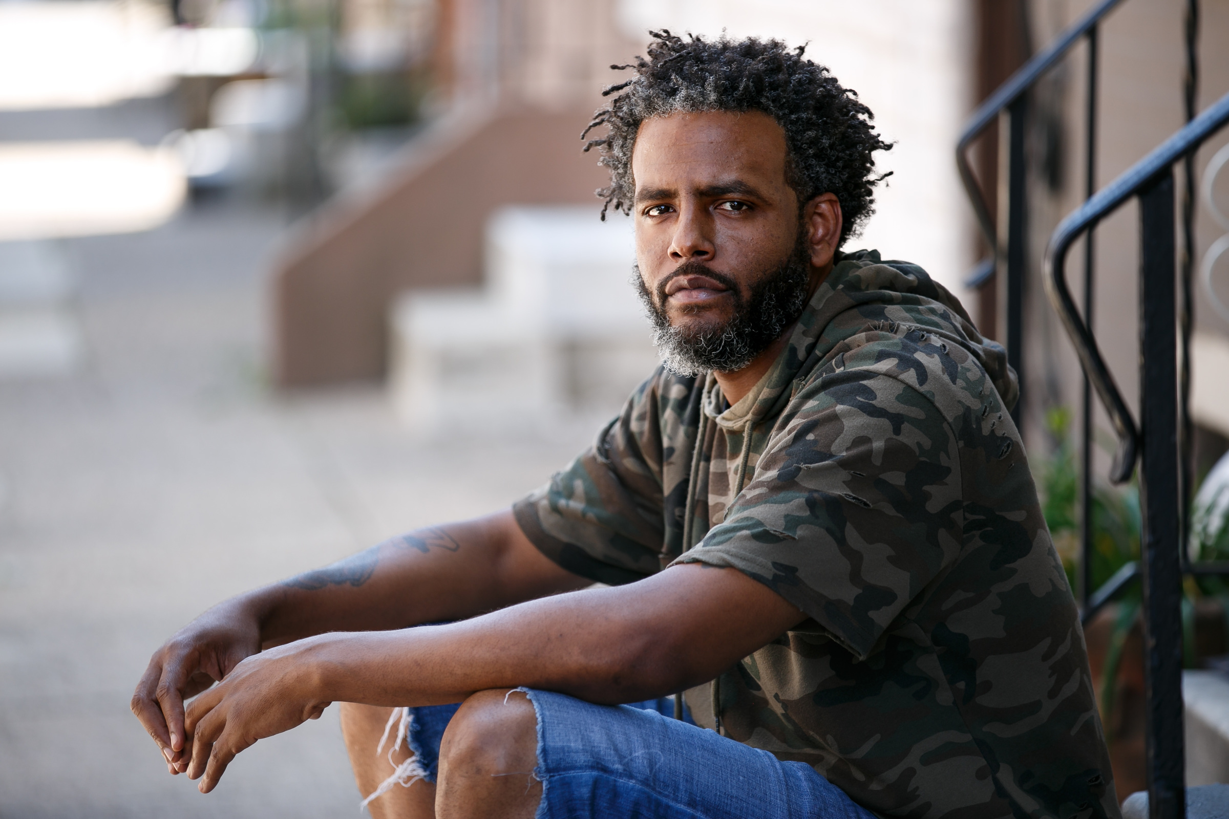 Benjamin Slater of East Mount Airy is shown Friday, June 29, 2018. He has filed a lawsuit against Dorney Park & Wildwater Kingdom alleging he was a victim of racial profiling on Father´s Day by an armed security officer.
