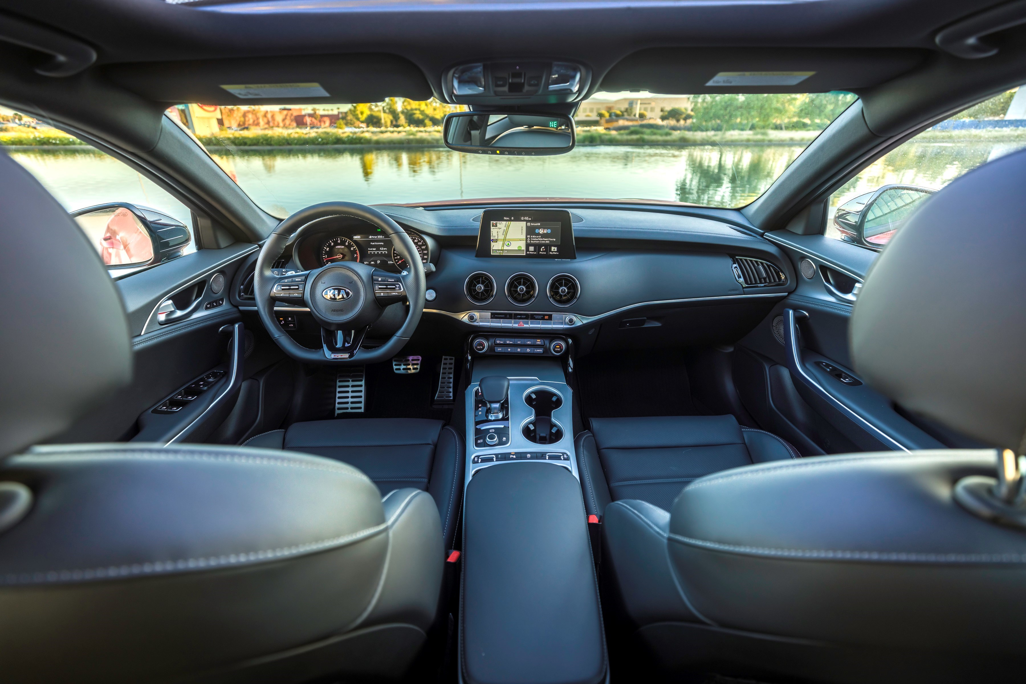 Kia did not just paste together its usual dashboard for the 2018 Stinger; its individuality should be a strong selling point.