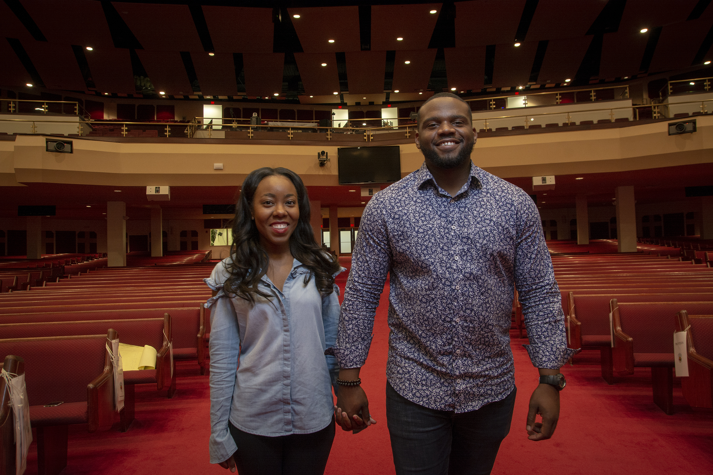 Morgan Waller and fiancee the Rev. Corey Johnson met seven years when he visited Enon Tabernacle.