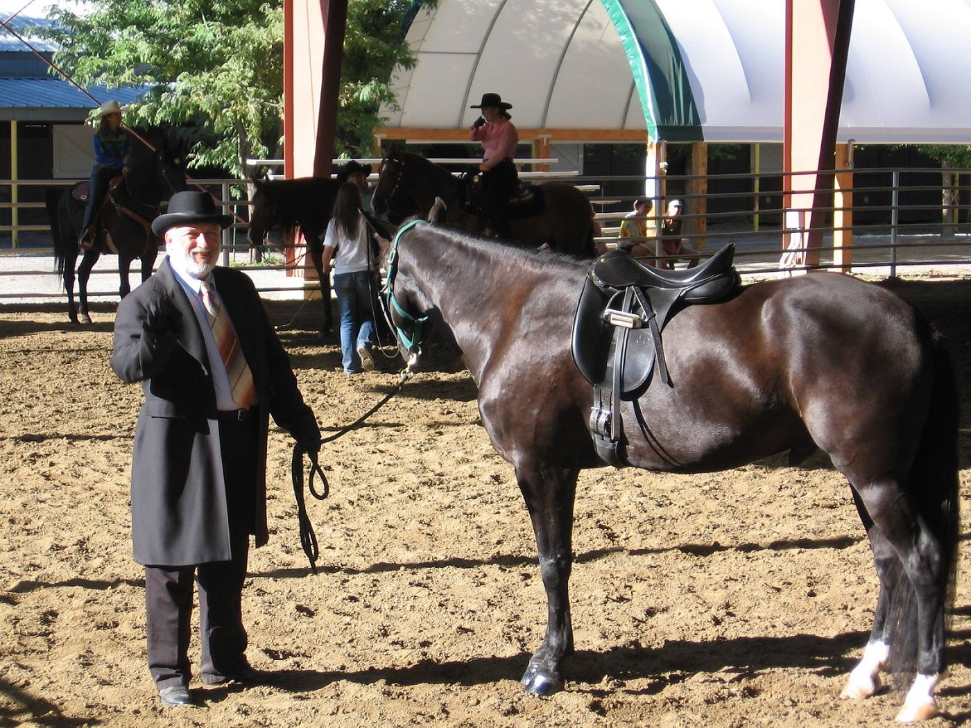 Rick Evans in a 2013 photo posted on his horse riding and training website and Facebook page.