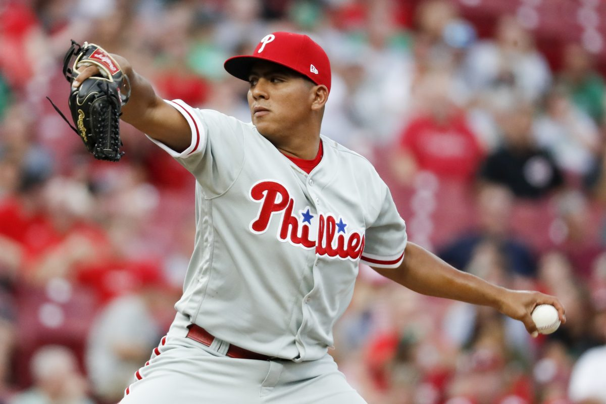 Ranger Suarez will start for the Phillies tonight against the Mets, but fans won't be able to watch him pitch on television.