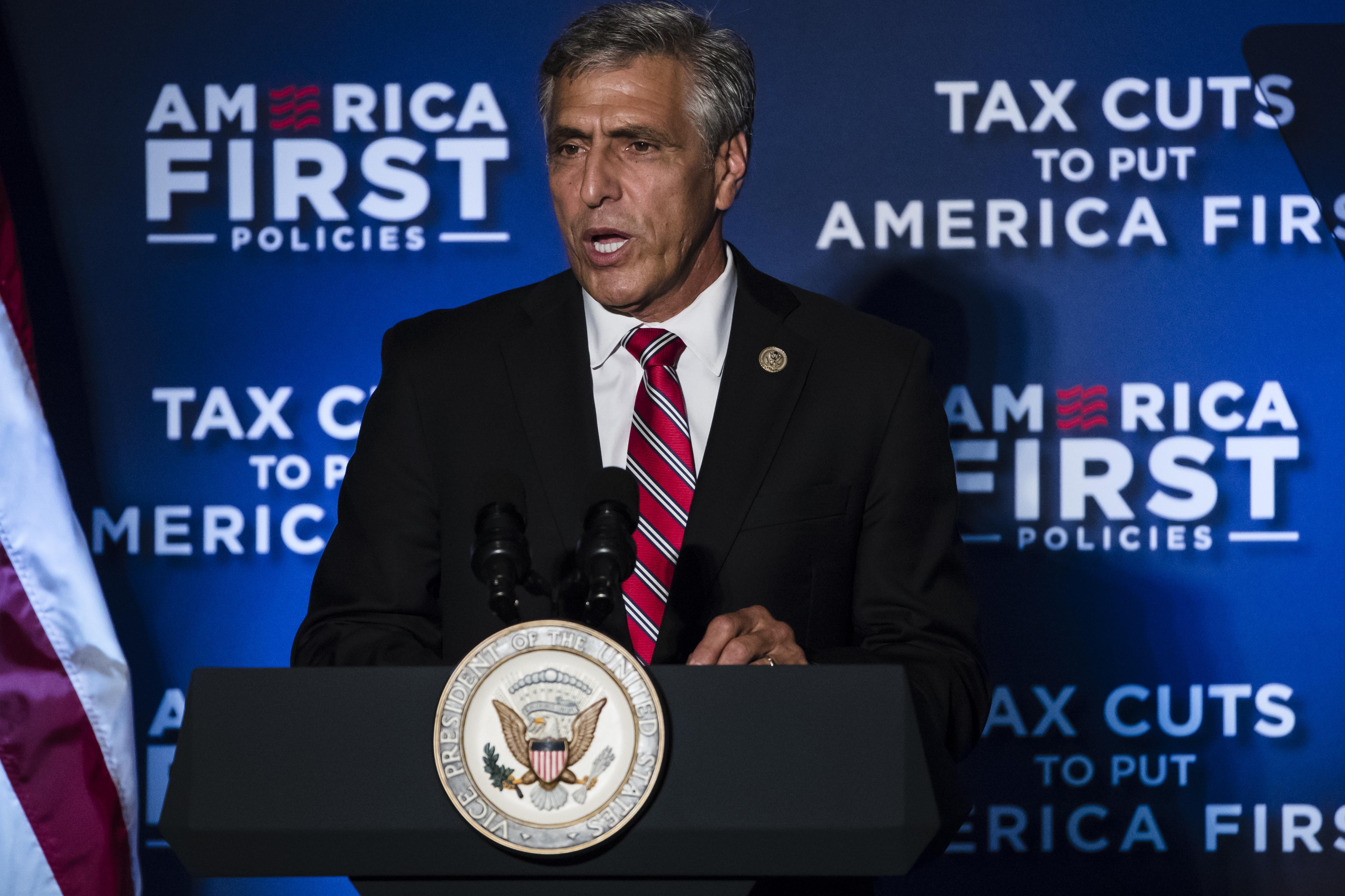 Republican U.S. Senate candidate Rep. Lou Barletta, R-Pa., speaks at an America First Policies event in Philadelphia, Monday, July 23, 2018.