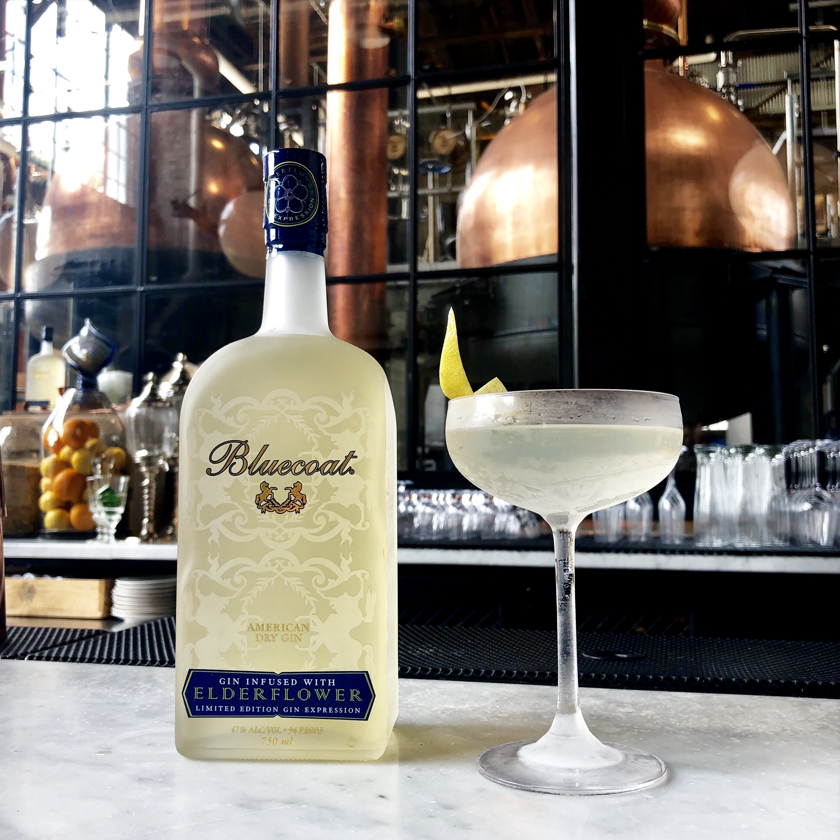 A Vesper made with Philadelphia Distilling´s new Elderflower gin at the distillery´s scenic tasting room in Fishtown.