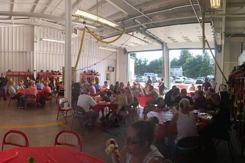 Crowds packed into the Malvern Fire Company´s fire house in 2016 for the volunteer department´s annual pig roast. This year´s event has been cancelled due to complaints over the animal being served.