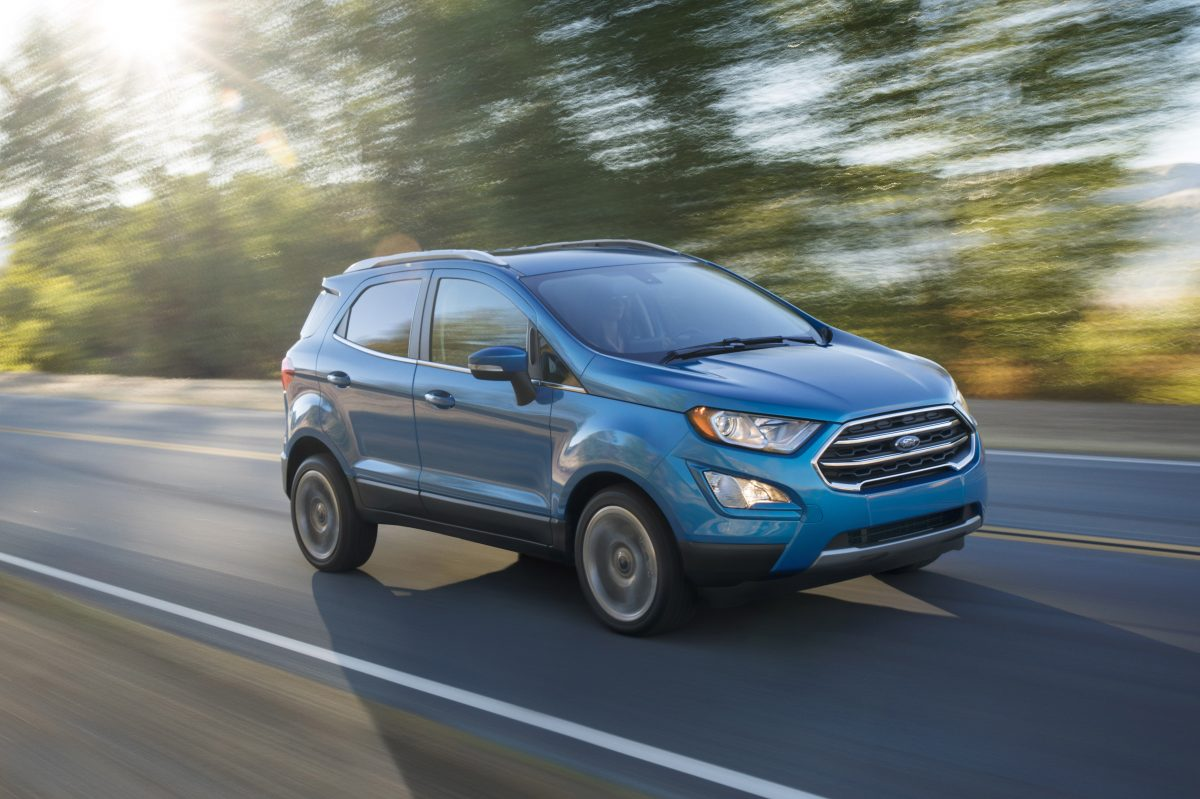 The 2018 Ford EcoSport brings an efficient 1.0-liter three-cylinder to the masses, or all-wheel drive, but not both. And it's kinda homely.