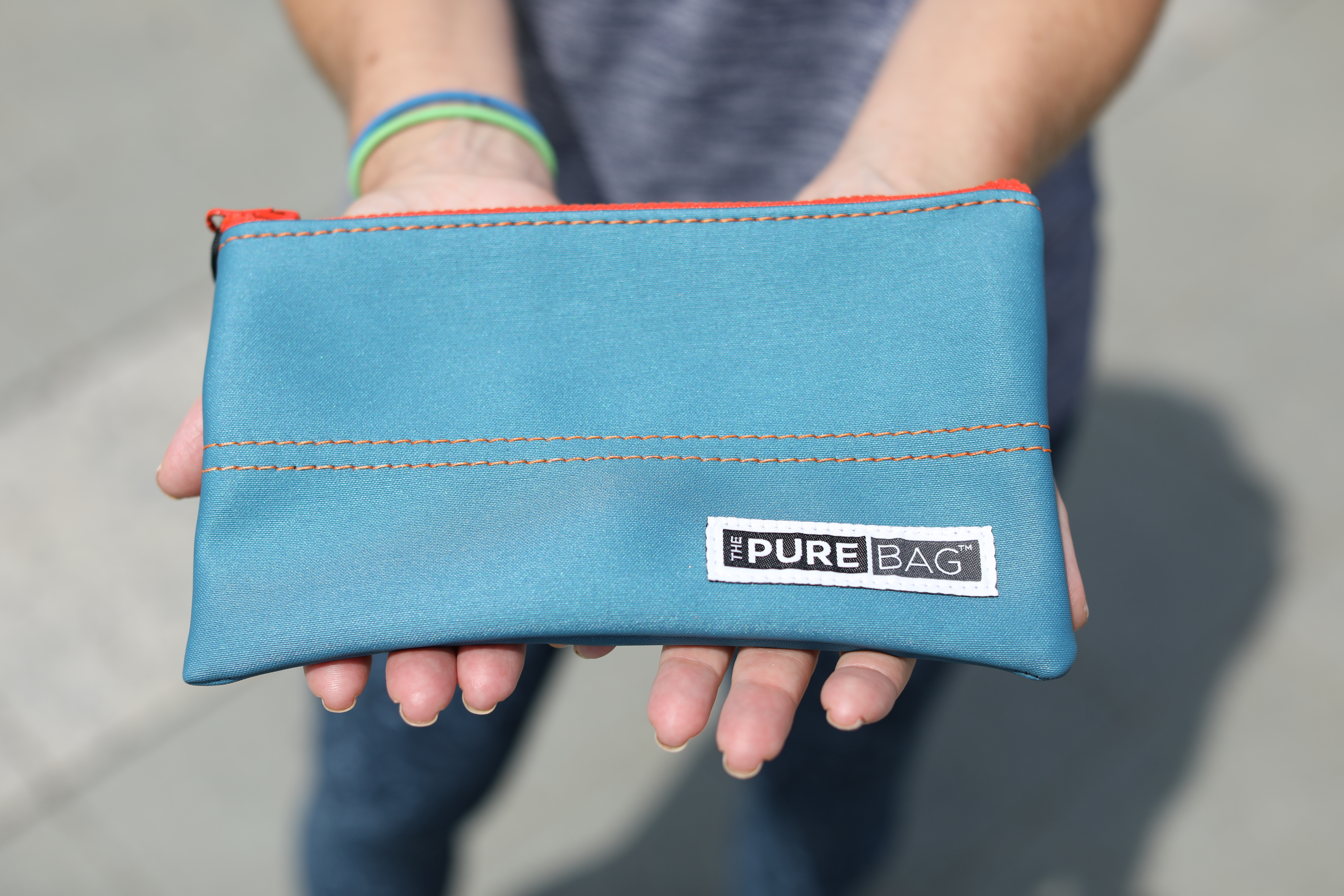 ThePureBag ZipPocket, a antimicrobial pouch perfect for holding keys and cellphones. DAVID SWANSON / Staff Photographer .