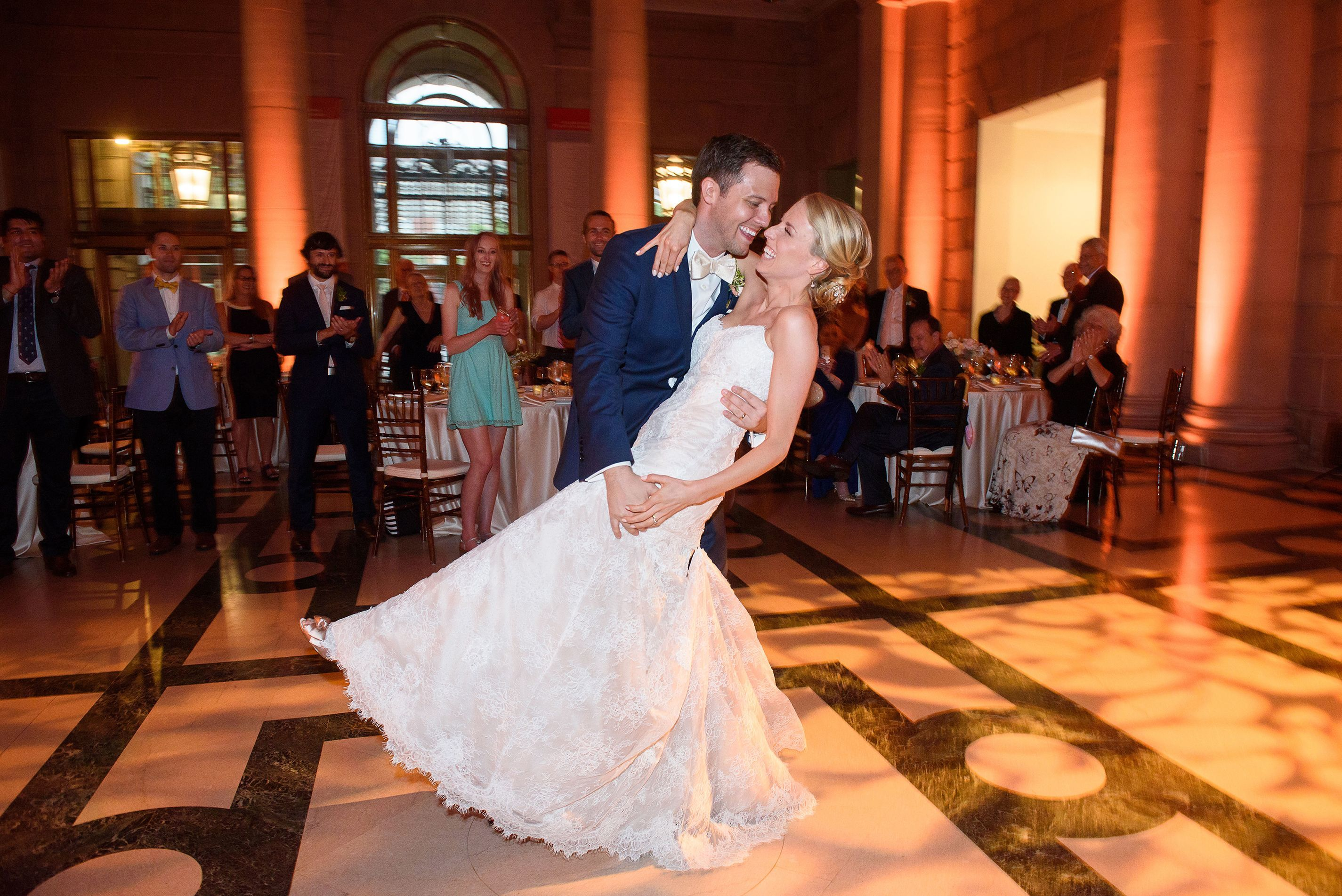 James Morse and Lauren Miller during their first dance as husband and wife.