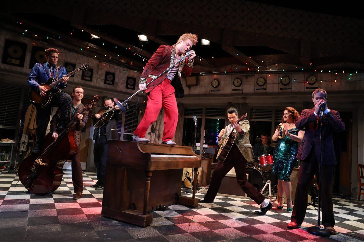 "The cast of "" Million Dollar Quartet,"" through Sept. 15 at Bucks County Playhouse."