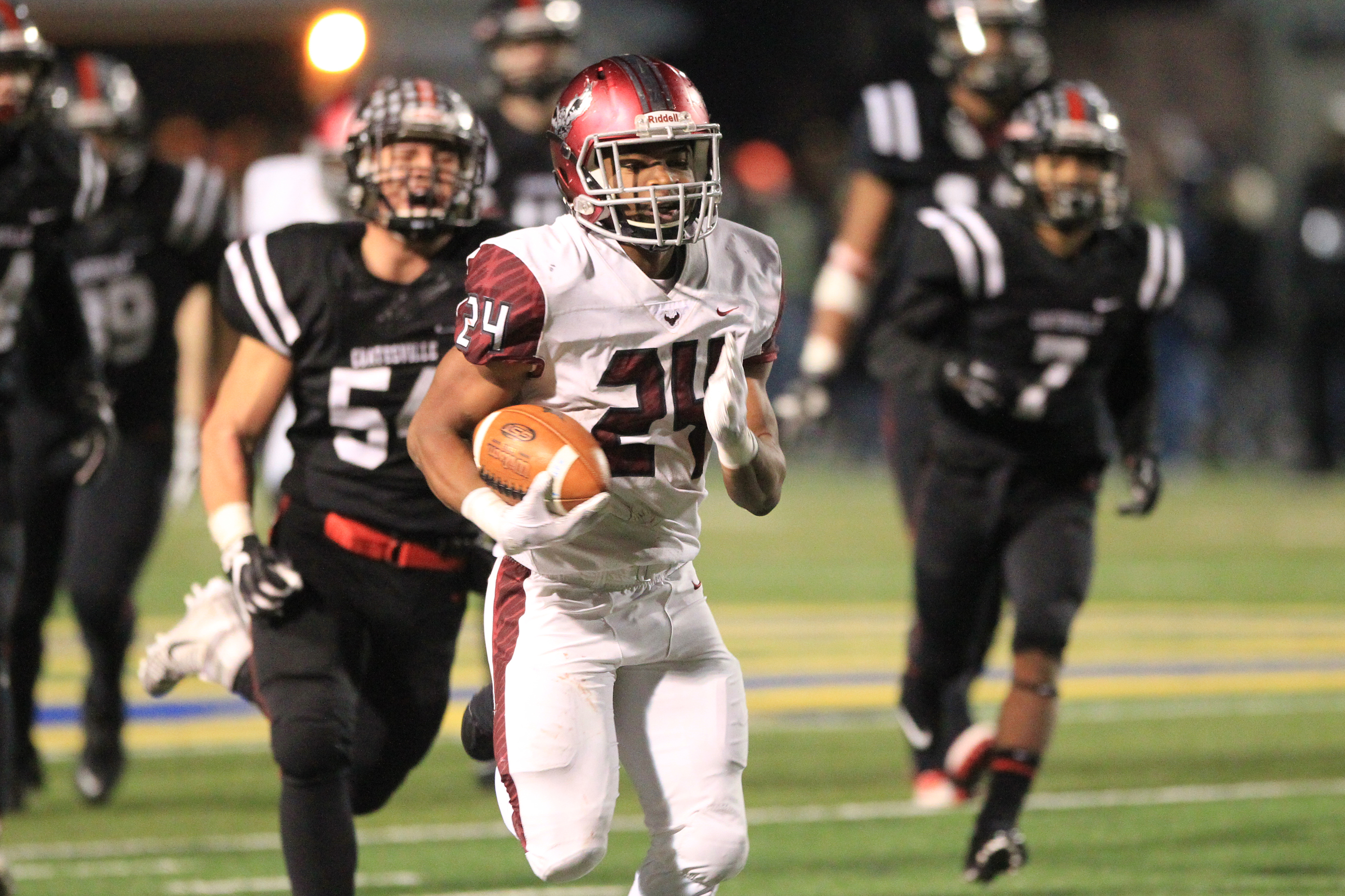St. Joseph's Prep's Kolbe Burrell runs for a touchdown against Coatesville in last year's PIAA Class 6A semifinal playoff.