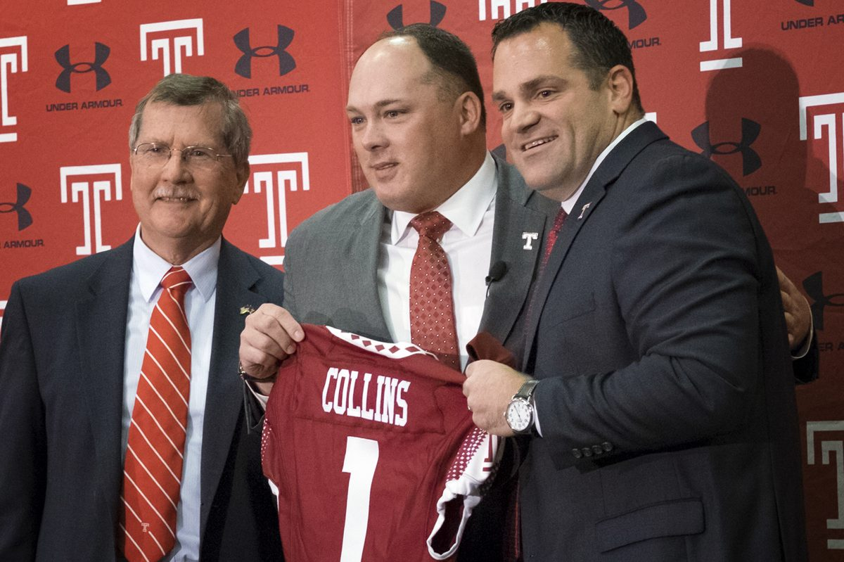 Temple coach Geoff Collins (middle) has added another recruit.
