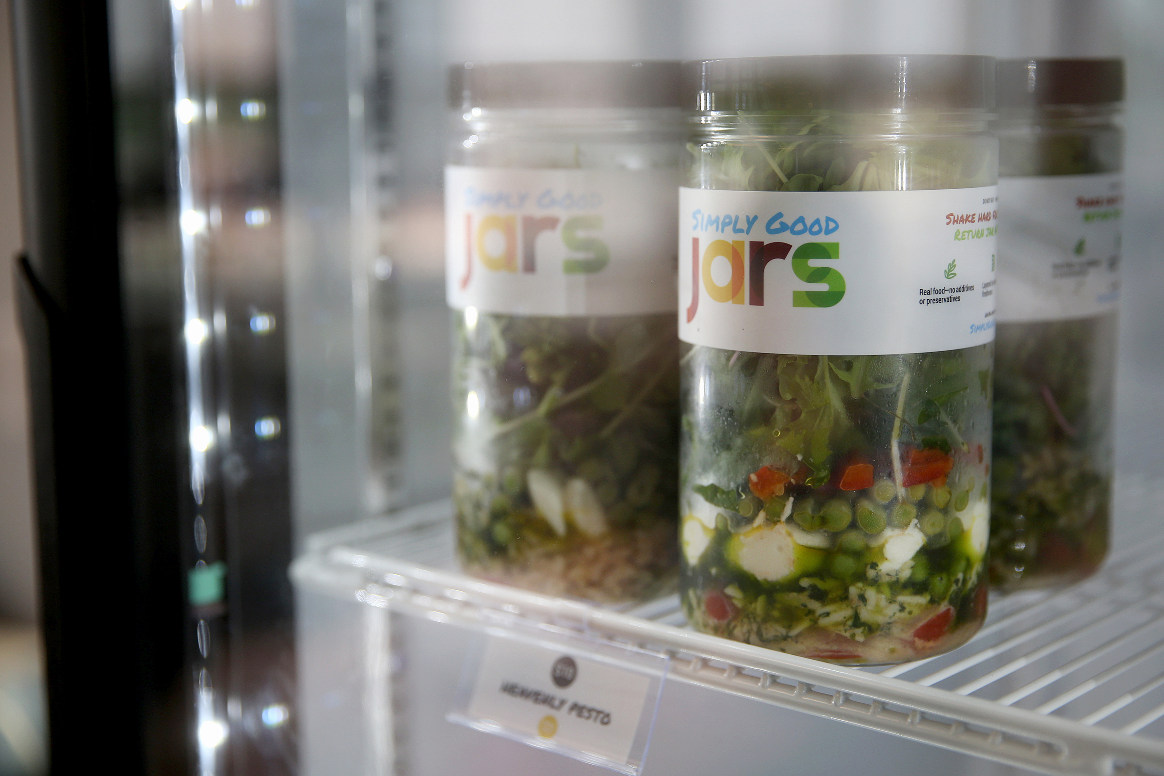Simply Good Jars meals are sourced from local farms and all 600 calories or less.