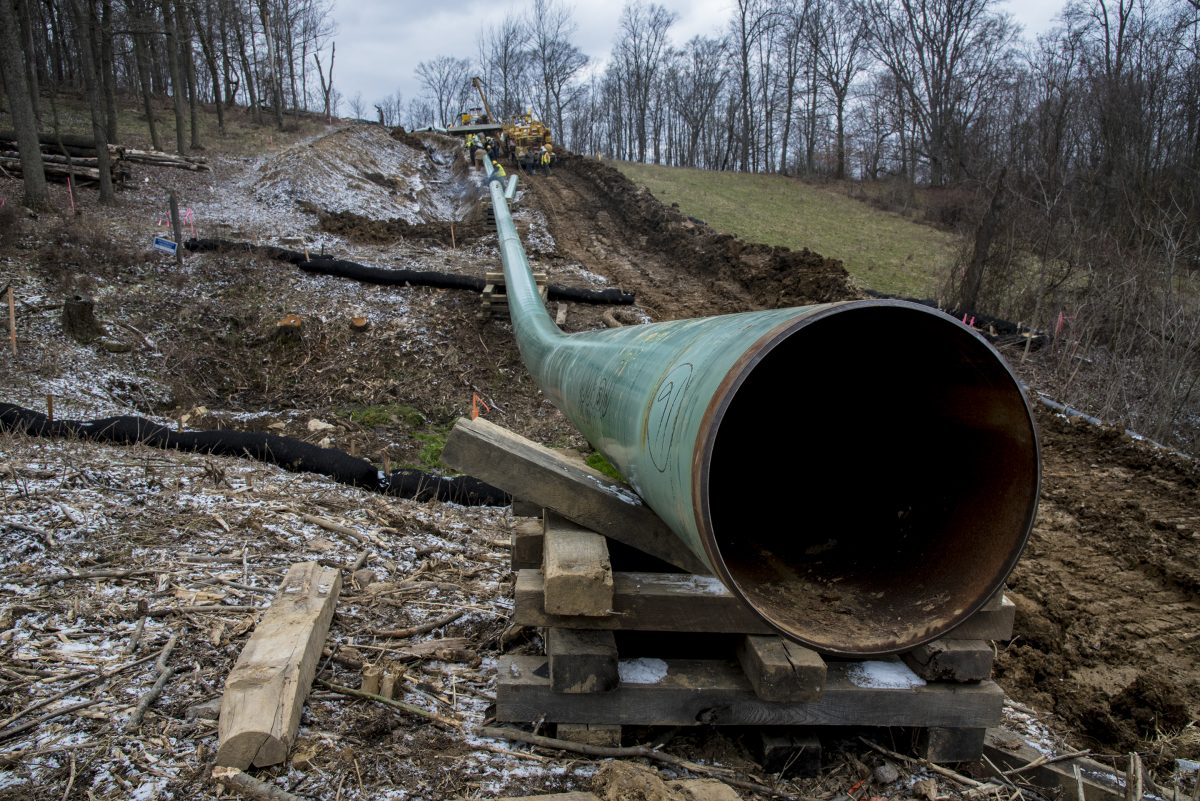 The Mariner East pipeline construction earlier this year in Washington County, Pa.