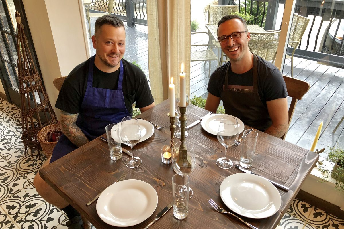Chef Ryan McQuillan (left) and owner Jason Simkins at Porch & Proper, 619 Collings Ave., Collingswood.