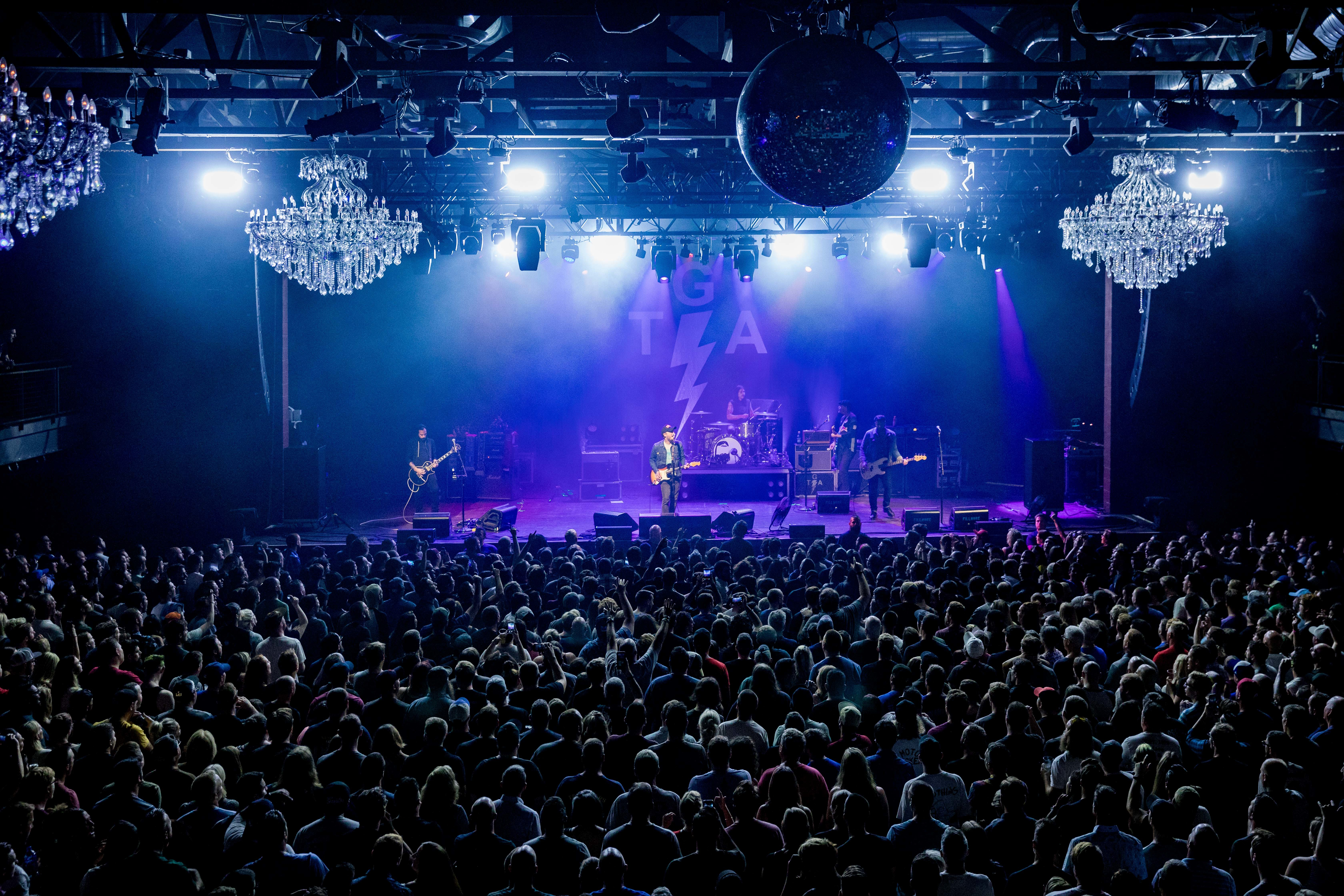 """Brian Fallon performs with New Jersey band Gaslight Anthem at their soldout Fillmore show on August 15, 2018. The band is celebrating the tenth anniversary of their sophomore album """"The '59 Sound."""" (ED NEWTON / For the Inquirer)"""